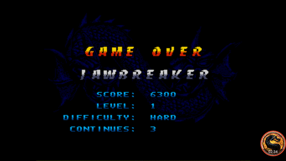 omargeddon: Double Dragon V The Shadow Falls [Hard] (Sega Genesis / MegaDrive Emulated) 6,300 points on 2019-01-29 22:12:33