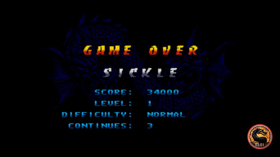 omargeddon: Double Dragon V The Shadow Falls [Normal] (Sega Genesis / MegaDrive Emulated) 34,000 points on 2019-01-29 22:07:48