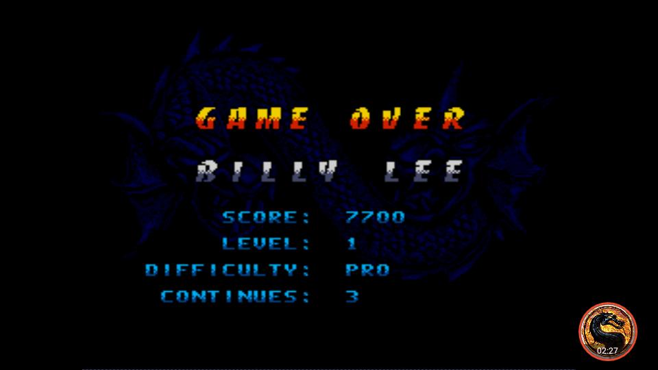 omargeddon: Double Dragon V The Shadow Falls [Pro] (Sega Genesis / MegaDrive Emulated) 7,700 points on 2019-01-29 22:11:31