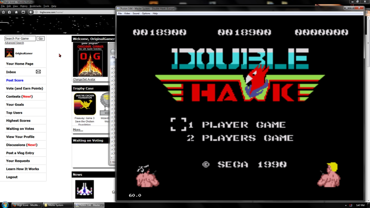 OriginalGamer: Double Hawk [Difficult] (Sega Master System Emulated) 18,900 points on 2018-02-19 18:09:33