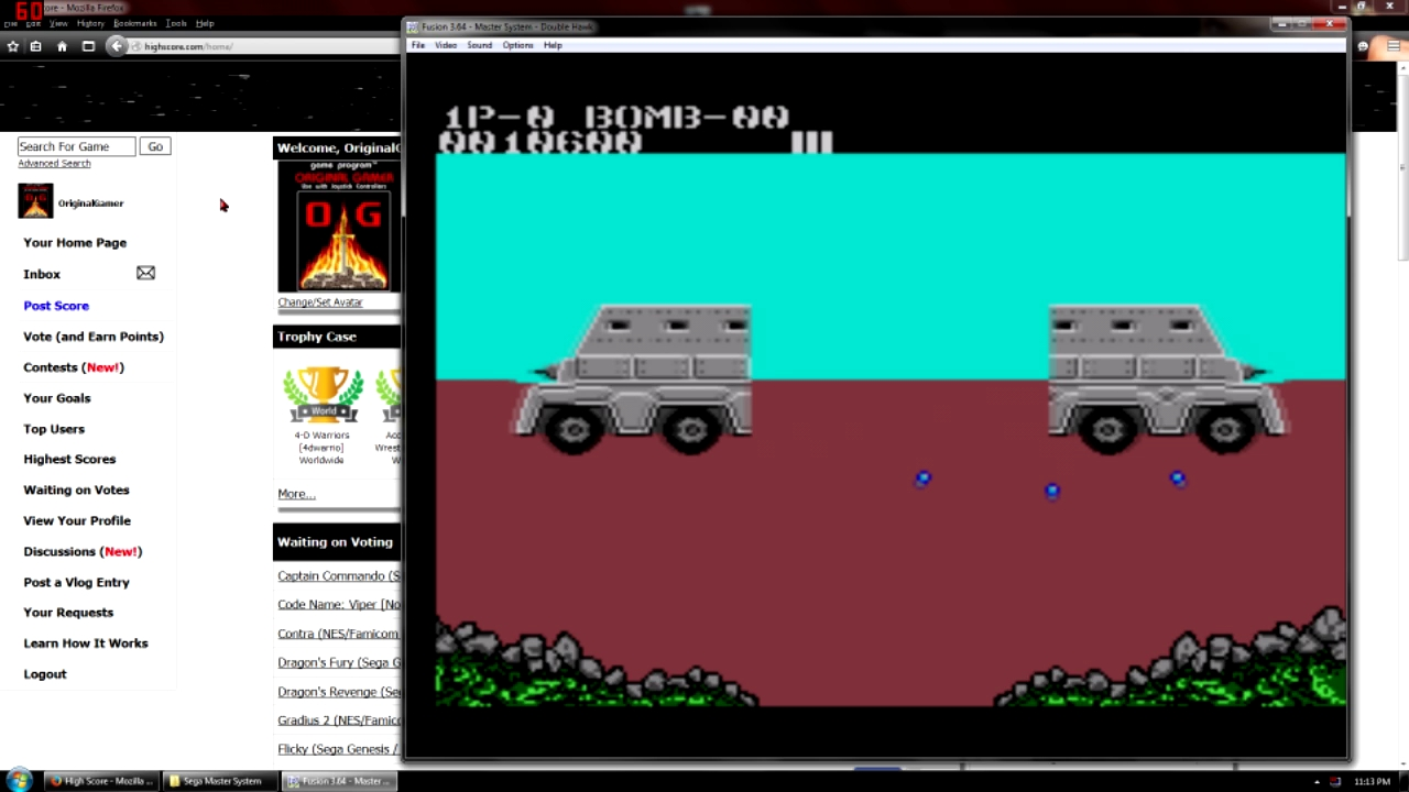 OriginalGamer: Double Hawk [Easy] (Sega Master System Emulated) 10,600 points on 2015-12-11 23:50:08