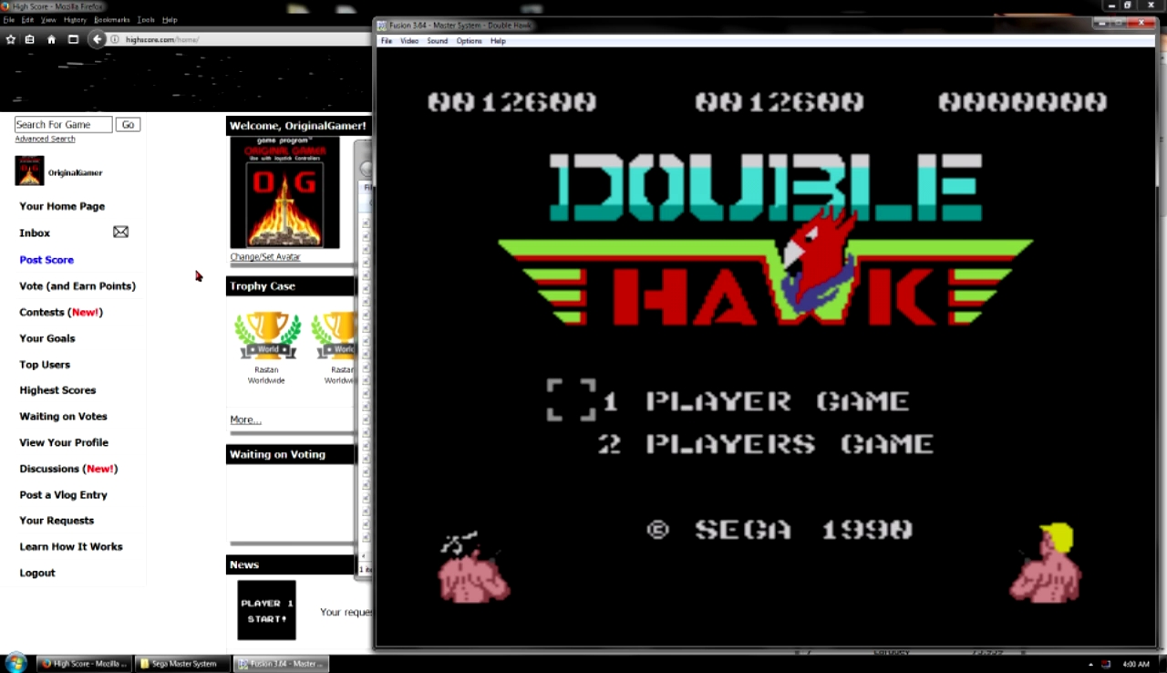 OriginalGamer: Double Hawk [Easy] (Sega Master System Emulated) 12,600 points on 2017-10-29 22:54:02