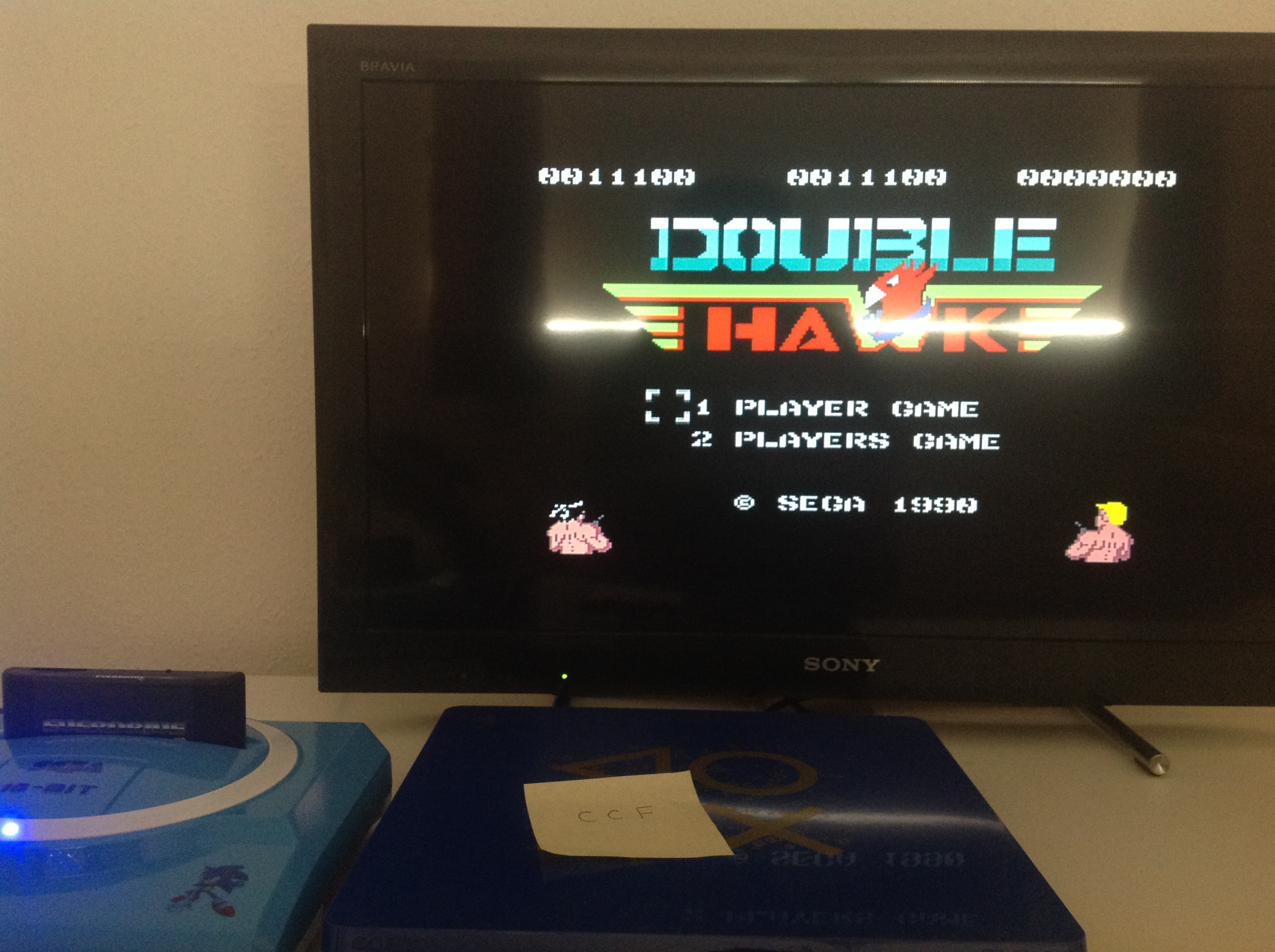 CoCoForest: Double Hawk [Easy] (Sega Master System) 11,100 points on 2018-07-23 08:29:40