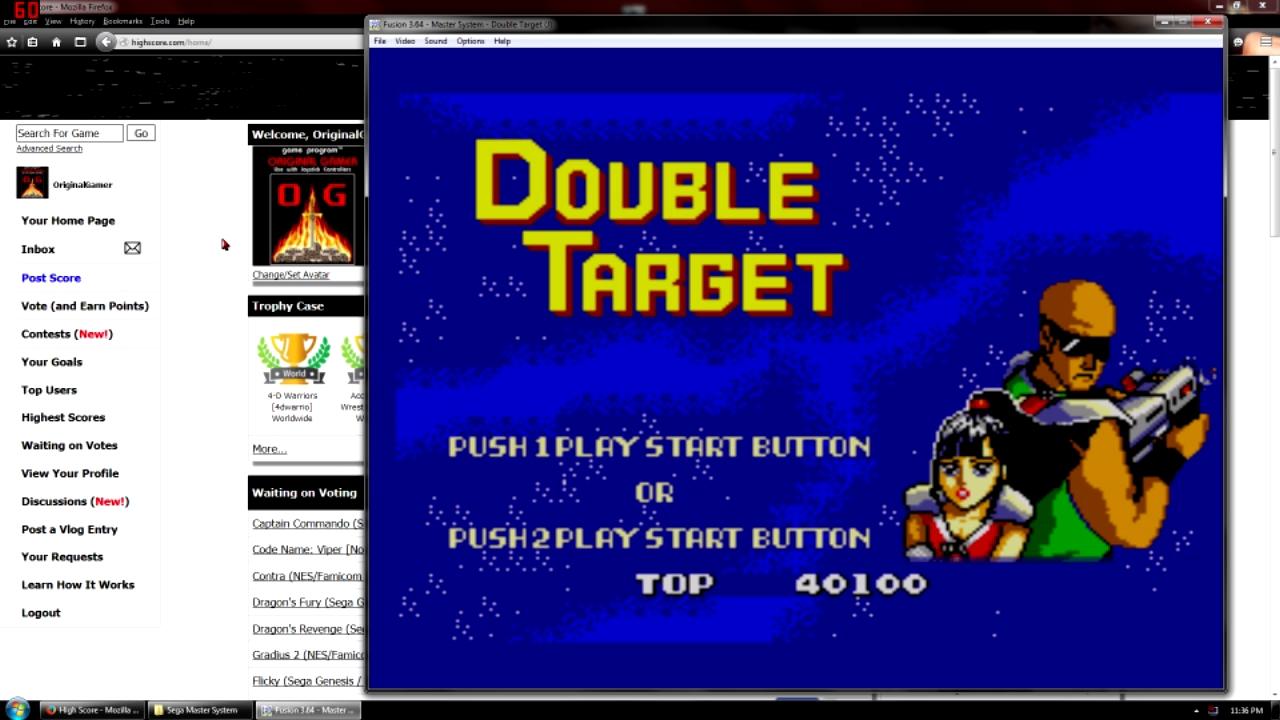 OriginalGamer: Double Target (Sega Master System Emulated) 40,100 points on 2015-10-22 15:17:01