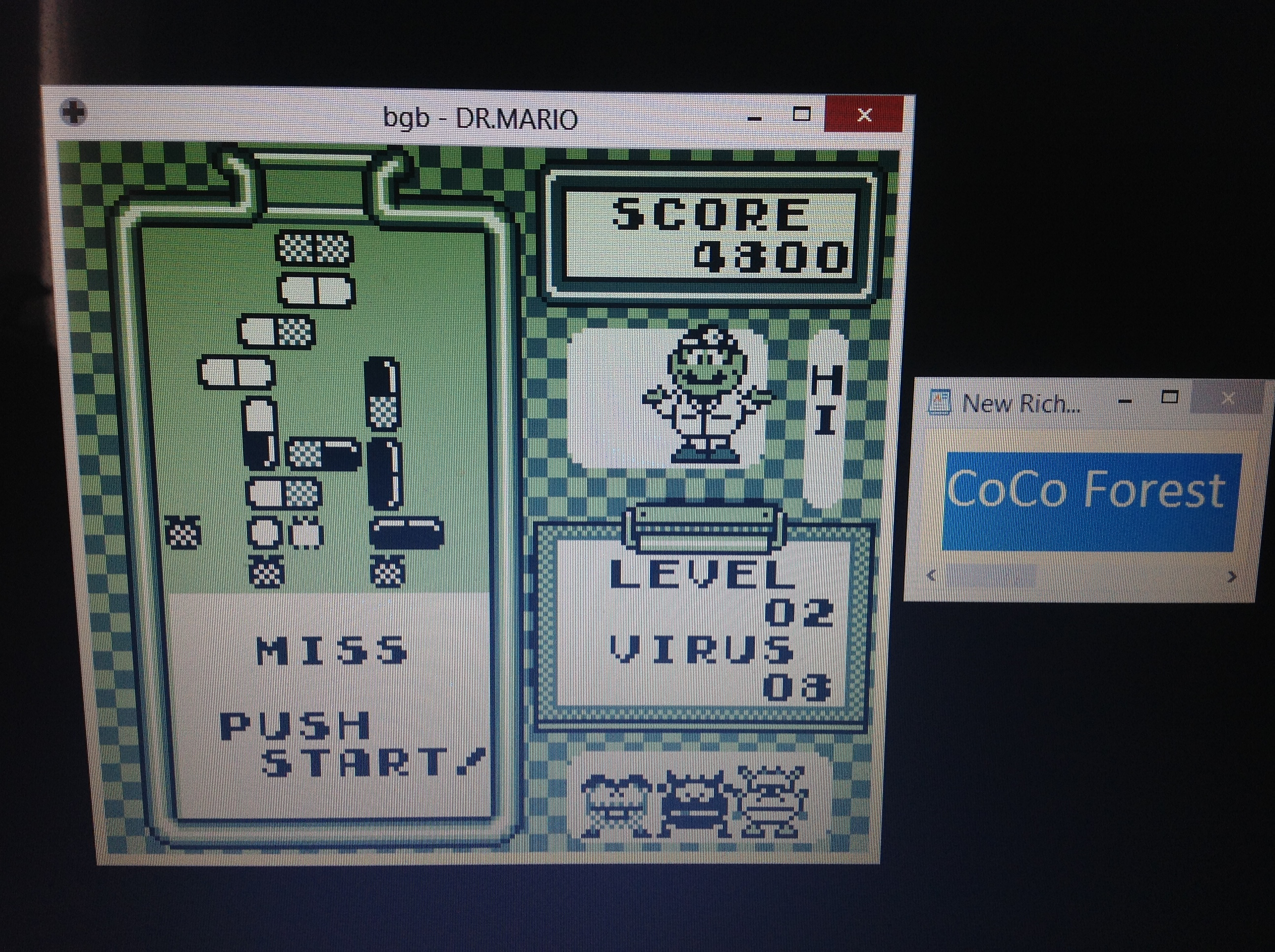 CoCoForest: Dr. Mario [High] (Game Boy Emulated) 4,800 points on 2018-10-07 03:33:38