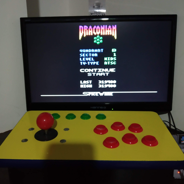 Larquey: Draconian: Quadrant Beta / Sector 1 [Kids] (Atari 2600 Emulated) 319,400 points on 2020-08-09 14:09:17
