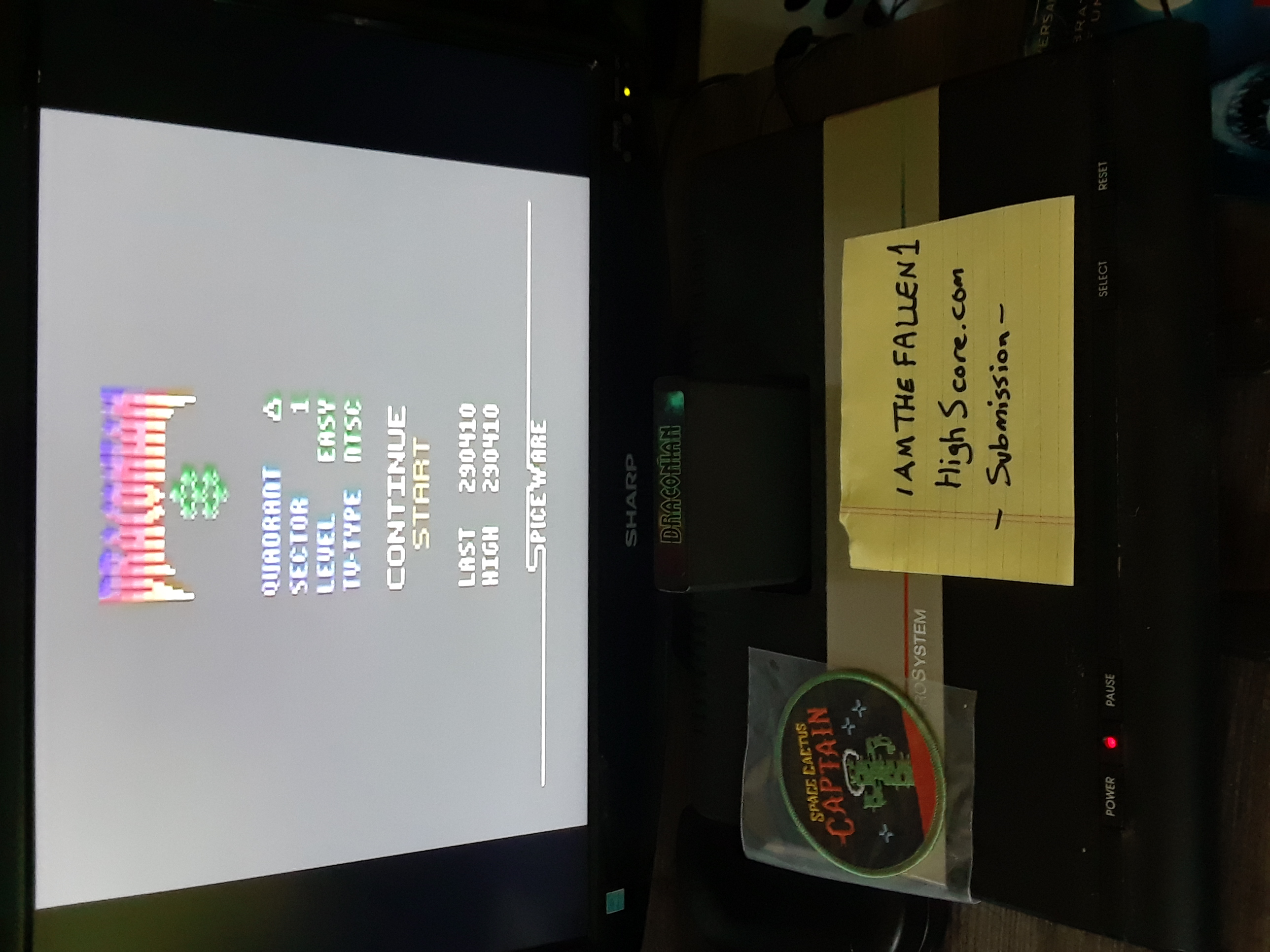 iamthefallen1: Draconian: Quadrant Delta / Sector 1 [Easy] (Atari 2600) 290,410 points on 2019-07-24 17:44:31