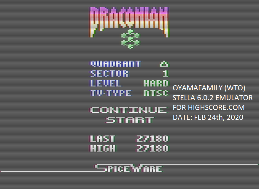 Draconian: Quadrant Delta / Sector 1 [Hard] 27,180 points