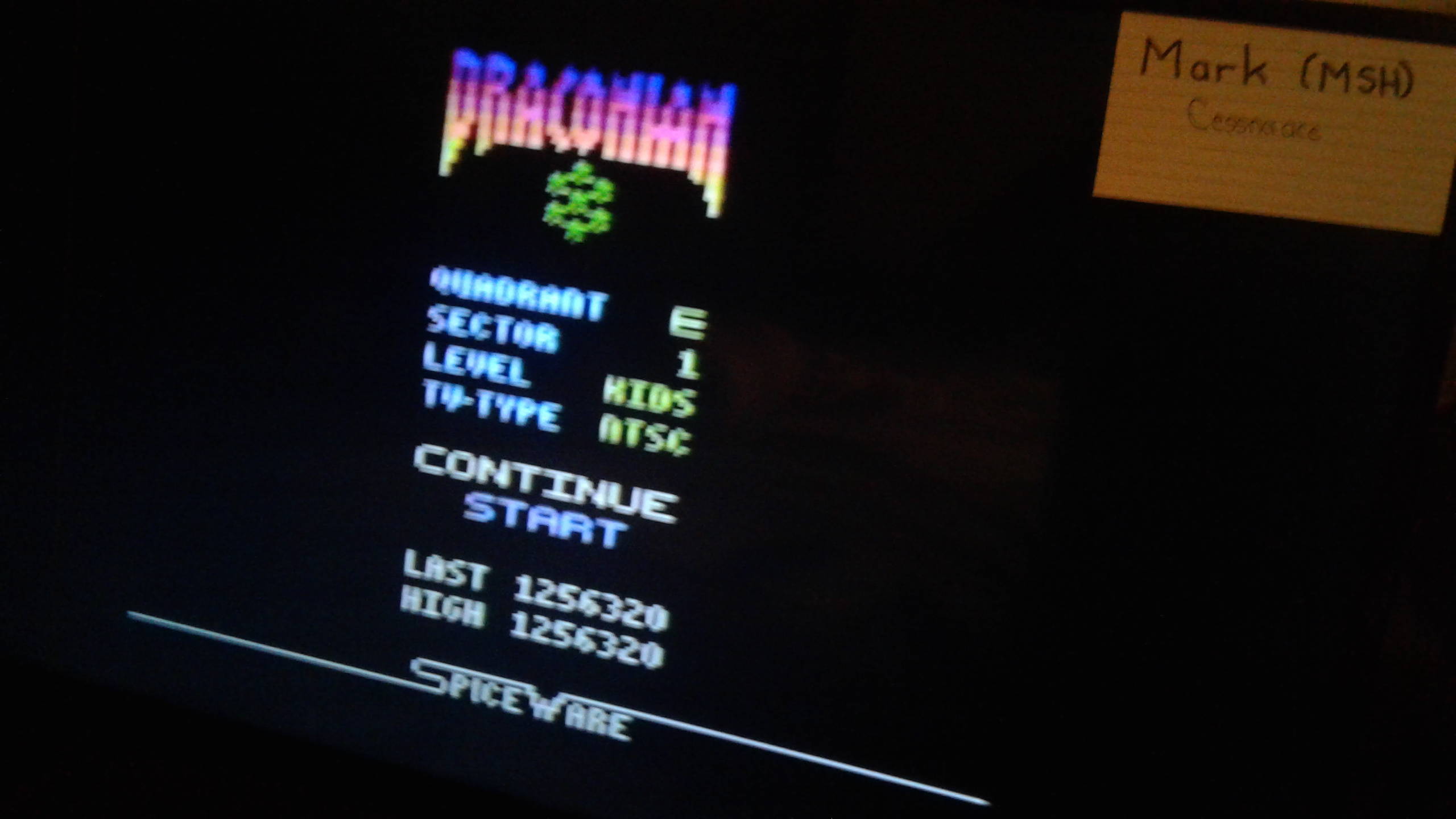 Mark: Draconian: Quadrant Epsilon / Sector 1 [Kids] (Atari 2600) 1,256,320 points on 2019-05-28 03:27:56
