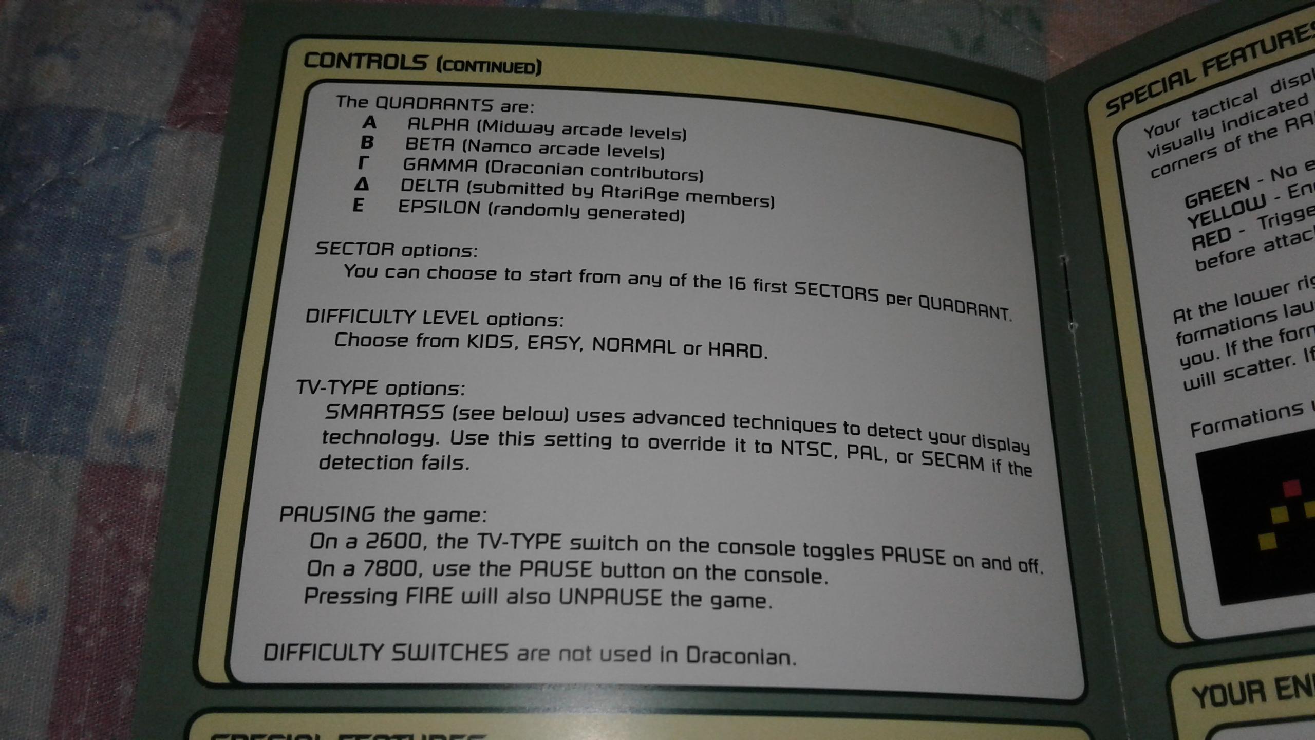 Mark: Draconian: Quadrant Gamma / Sector 1 [Kids] (Atari 2600) 524,450 points on 2019-05-10 00:25:08
