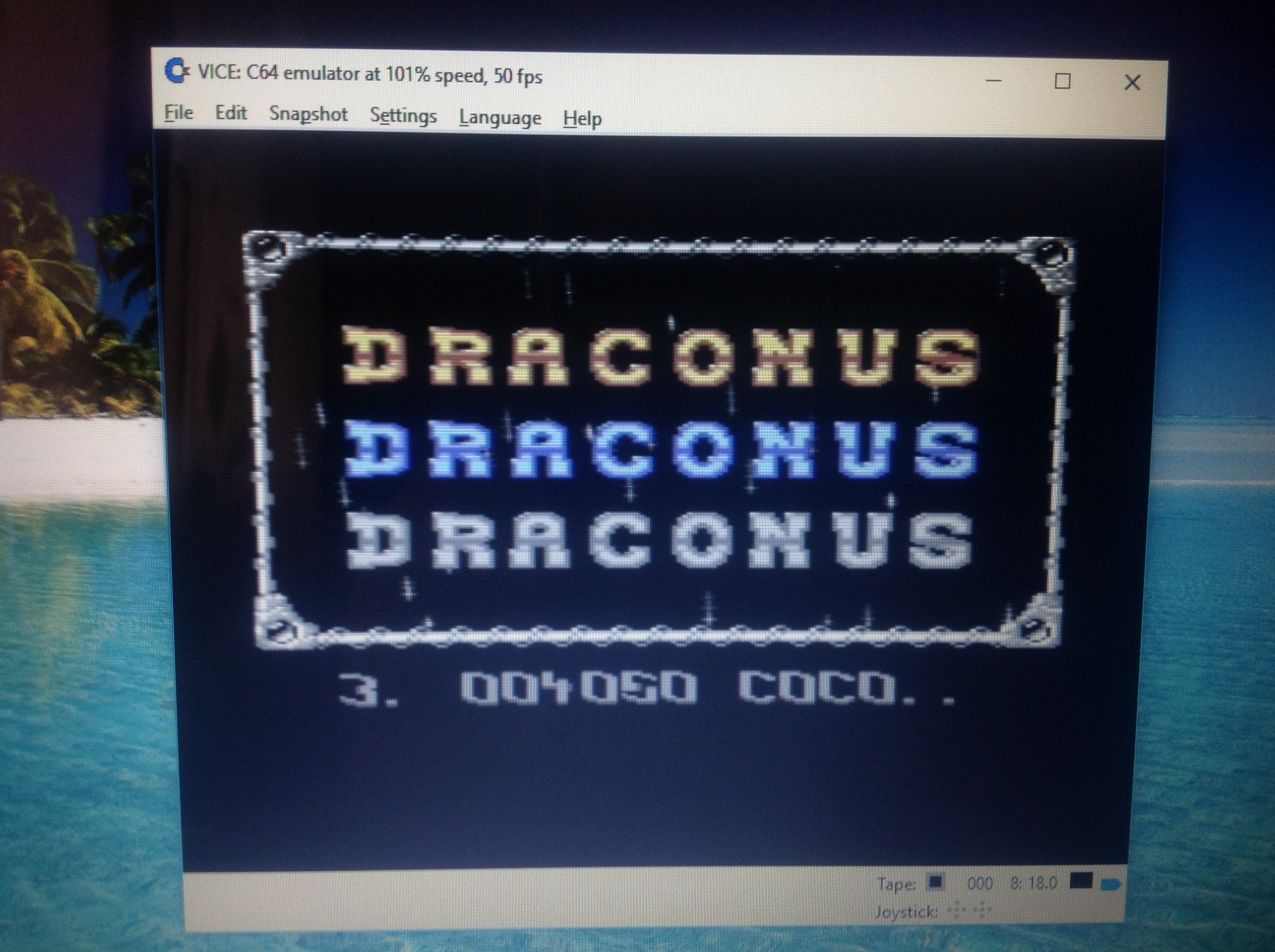 CoCoForest: Draconus (Commodore 64 Emulated) 4,050 points on 2017-08-11 11:17:43