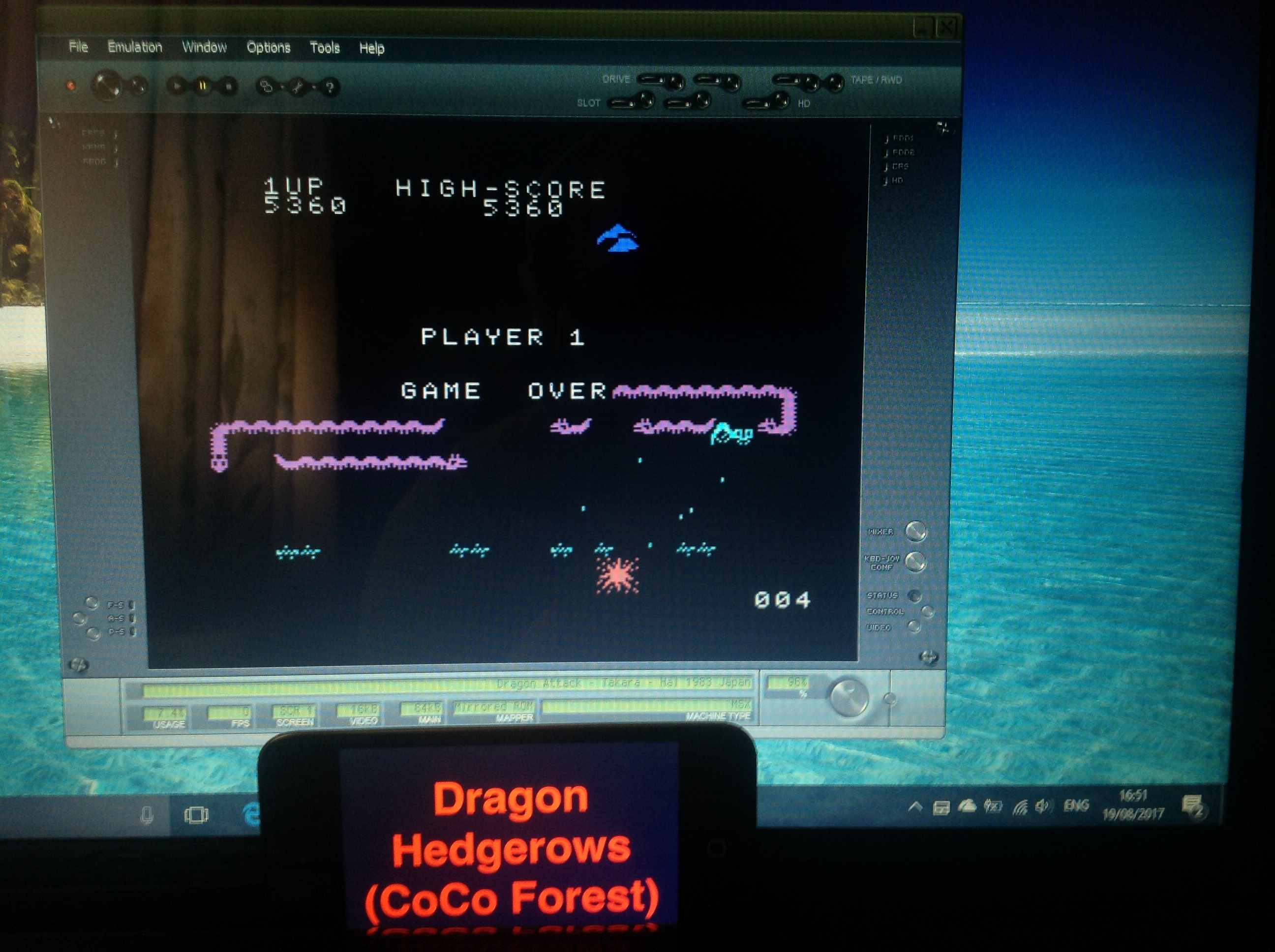 CoCoForest: Dragon Attack (MSX Emulated) 5,360 points on 2017-08-19 10:53:25