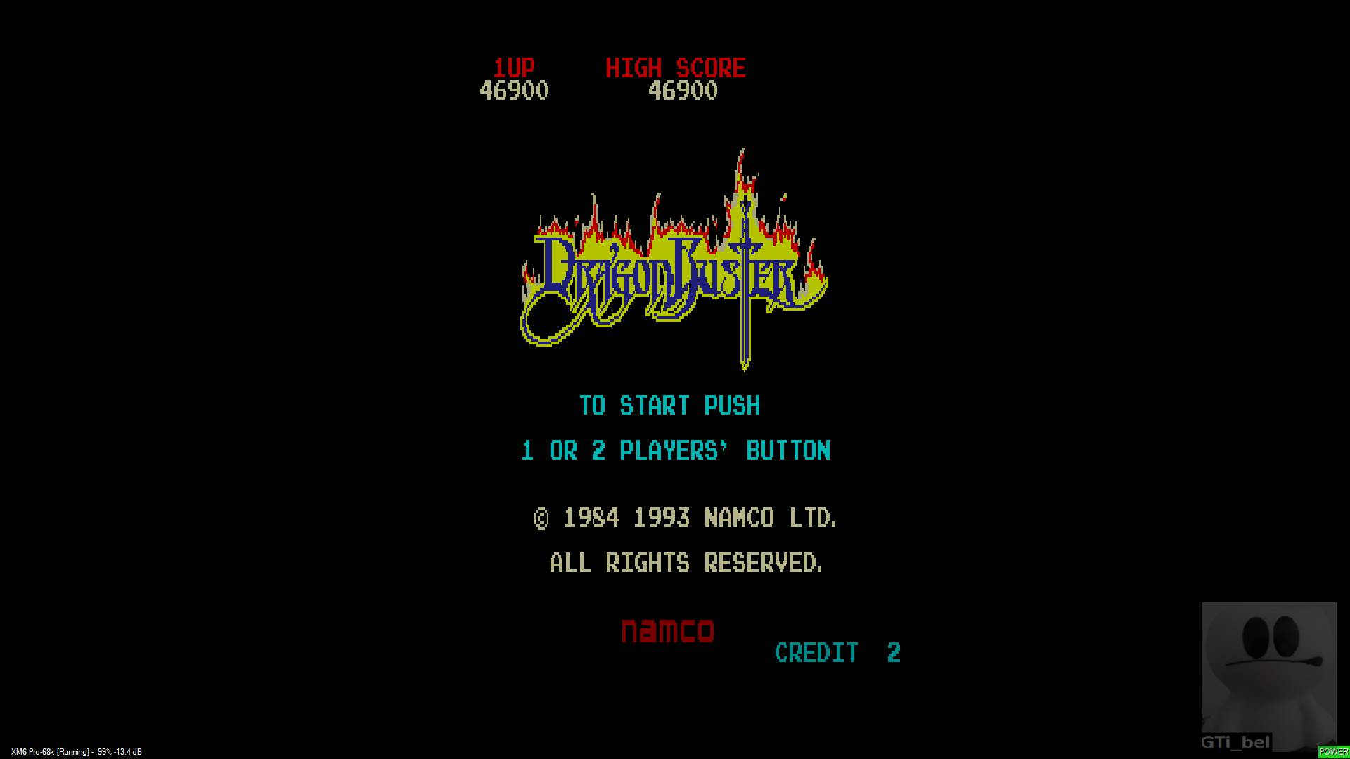 GTibel: Dragon Buster (Sharp X68000 Emulated) 46,900 points on 2020-01-18 03:18:53
