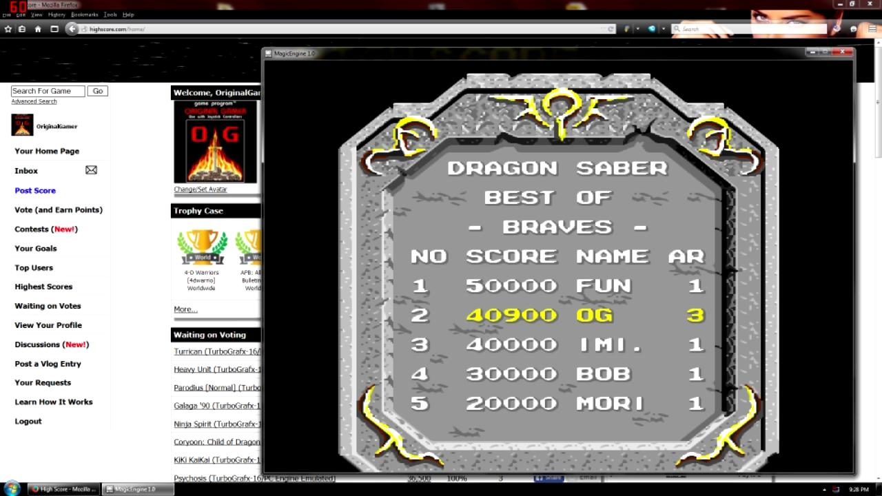 OriginalGamer: Dragon Saber (TurboGrafx-16/PC Engine Emulated) 40,900 points on 2015-08-21 16:44:33