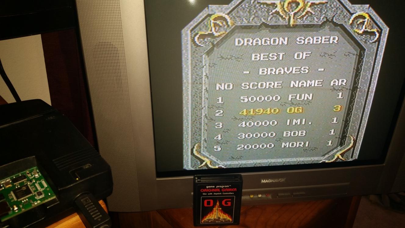 OriginalGamer: Dragon Saber (TurboGrafx-16/PC Engine) 41,940 points on 2016-04-30 15:36:49