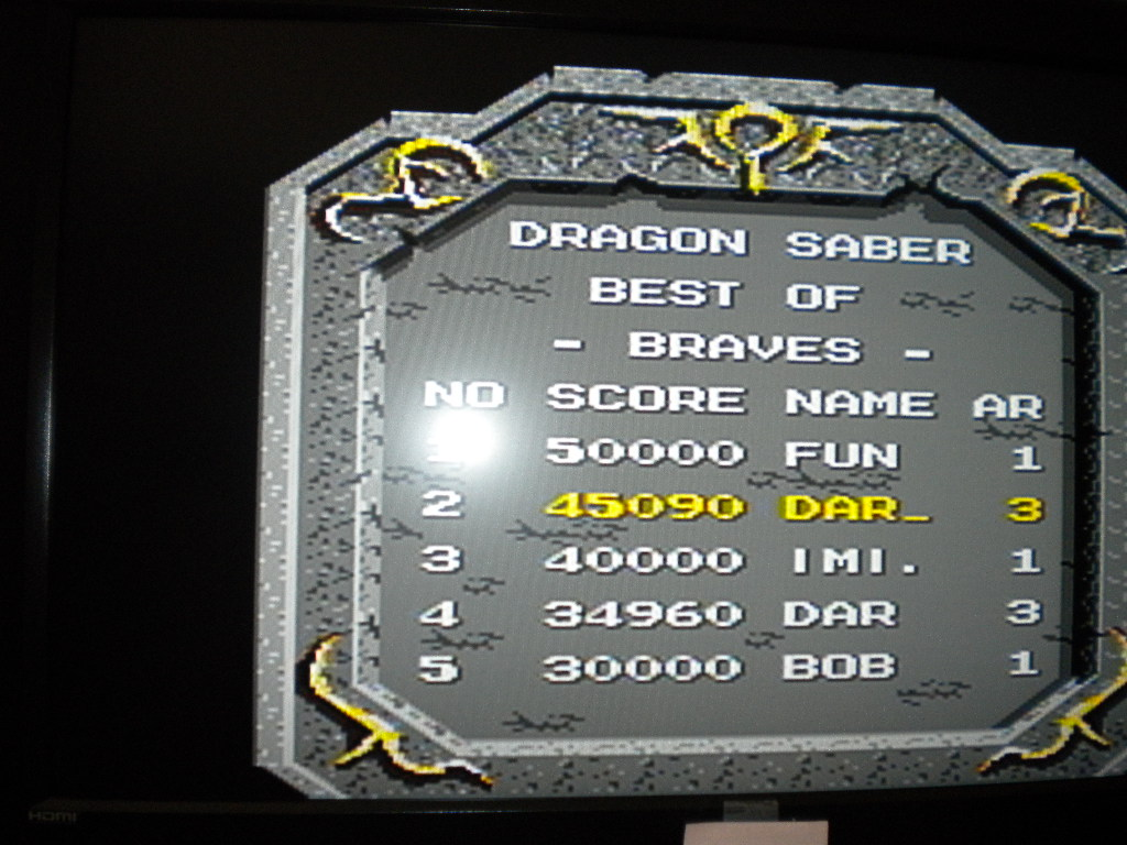darrin9999: Dragon Saber (TurboGrafx-16/PC Engine) 45,090 points on 2017-04-09 16:52:50