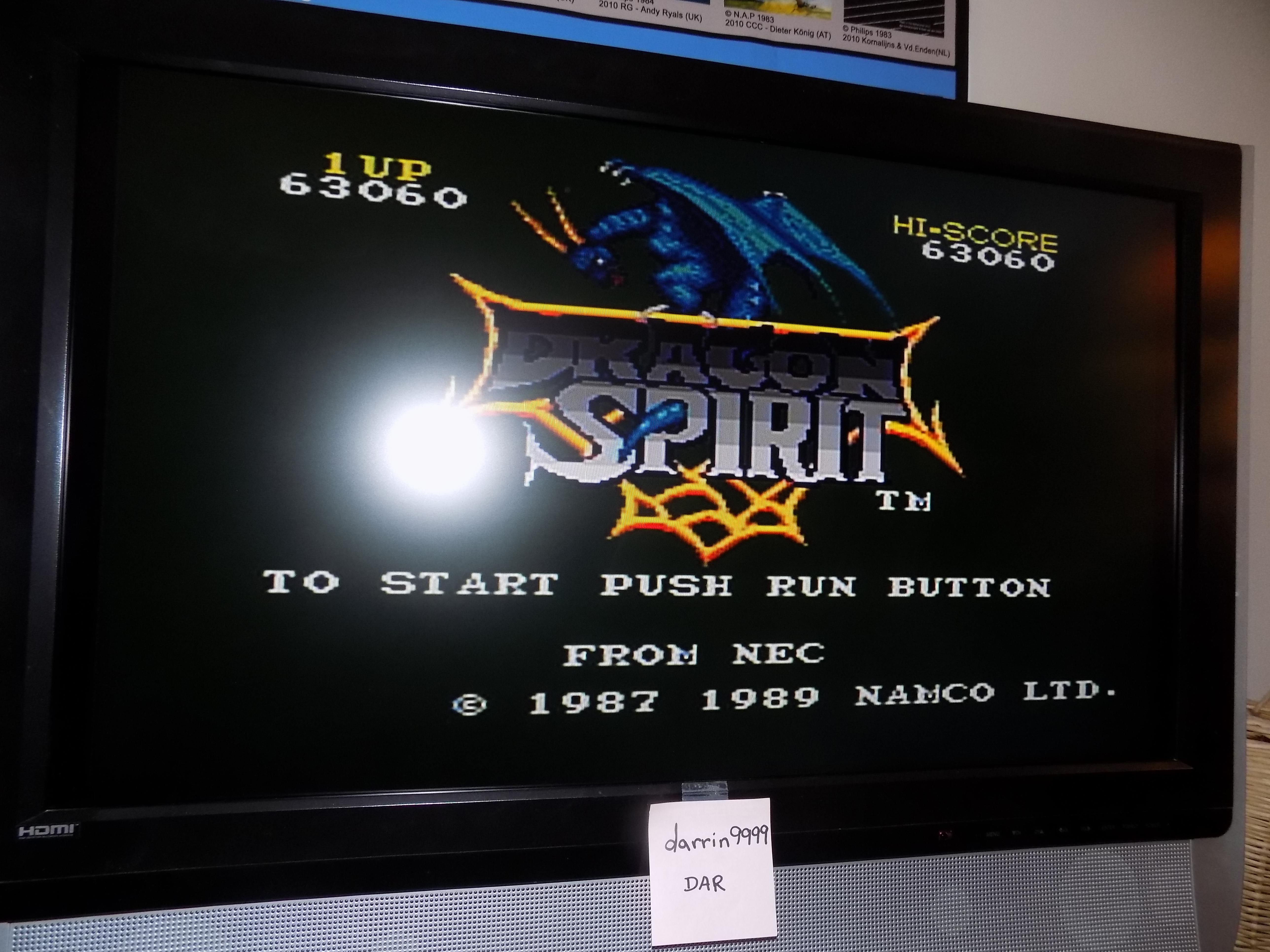 darrin9999: Dragon Spirit (TurboGrafx-16/PC Engine) 63,060 points on 2017-07-28 17:53:18