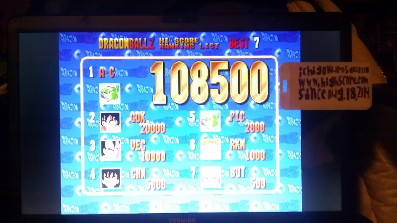 Dragonball Z [dbz] 108,500 points