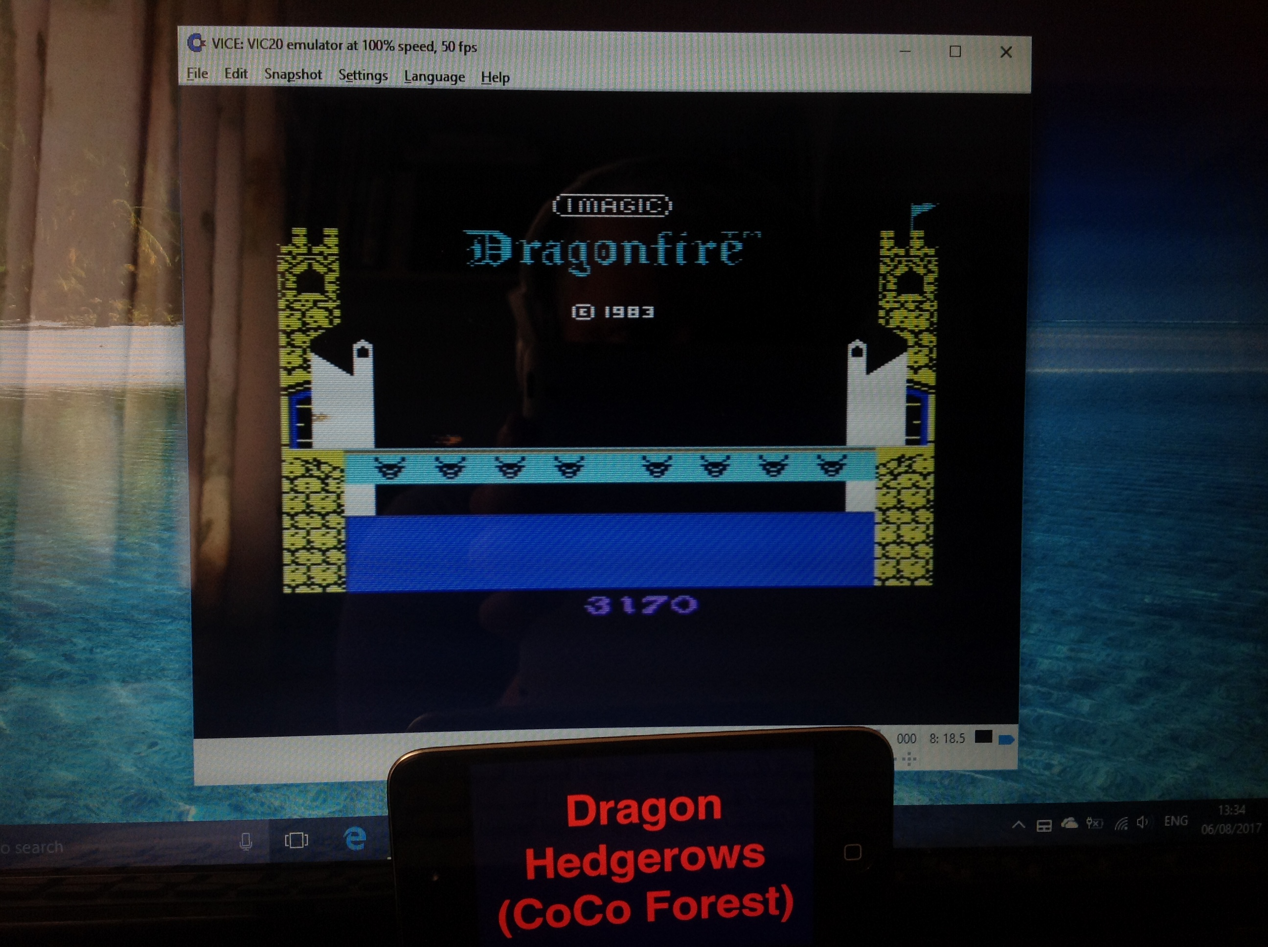 CoCoForest: Dragonfire (Commodore VIC-20 Emulated) 3,170 points on 2017-08-06 08:43:20