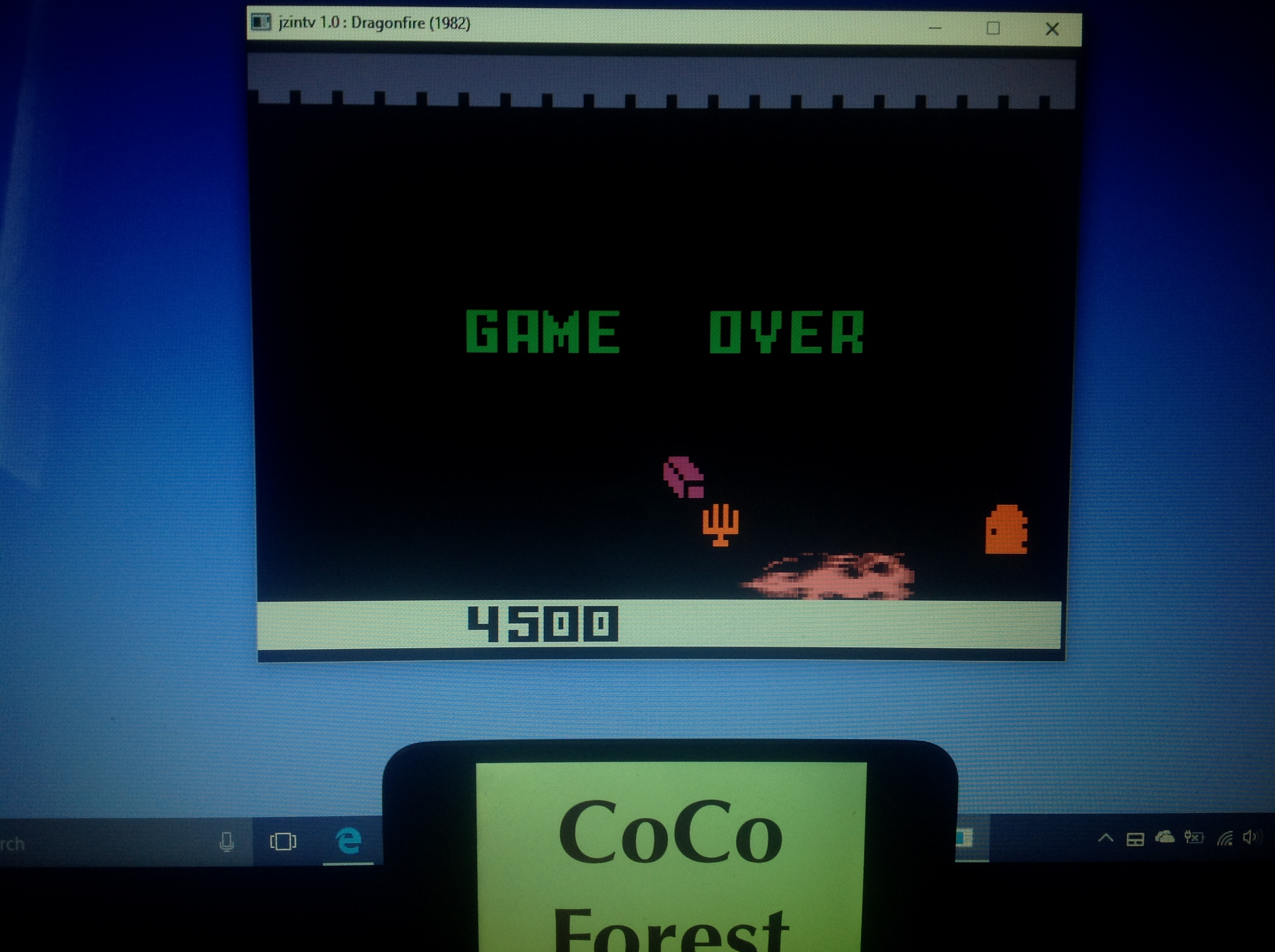 CoCoForest: Dragonfire (Intellivision Emulated) 4,500 points on 2018-01-23 07:50:13