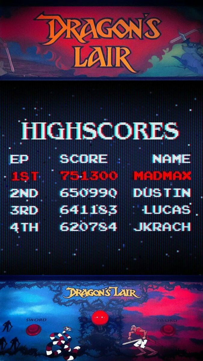 TK421: Dragons Lair [Arcade Settings] (PC Emulated / DOSBox) 1,000,000 points on 2019-07-19 21:29:12