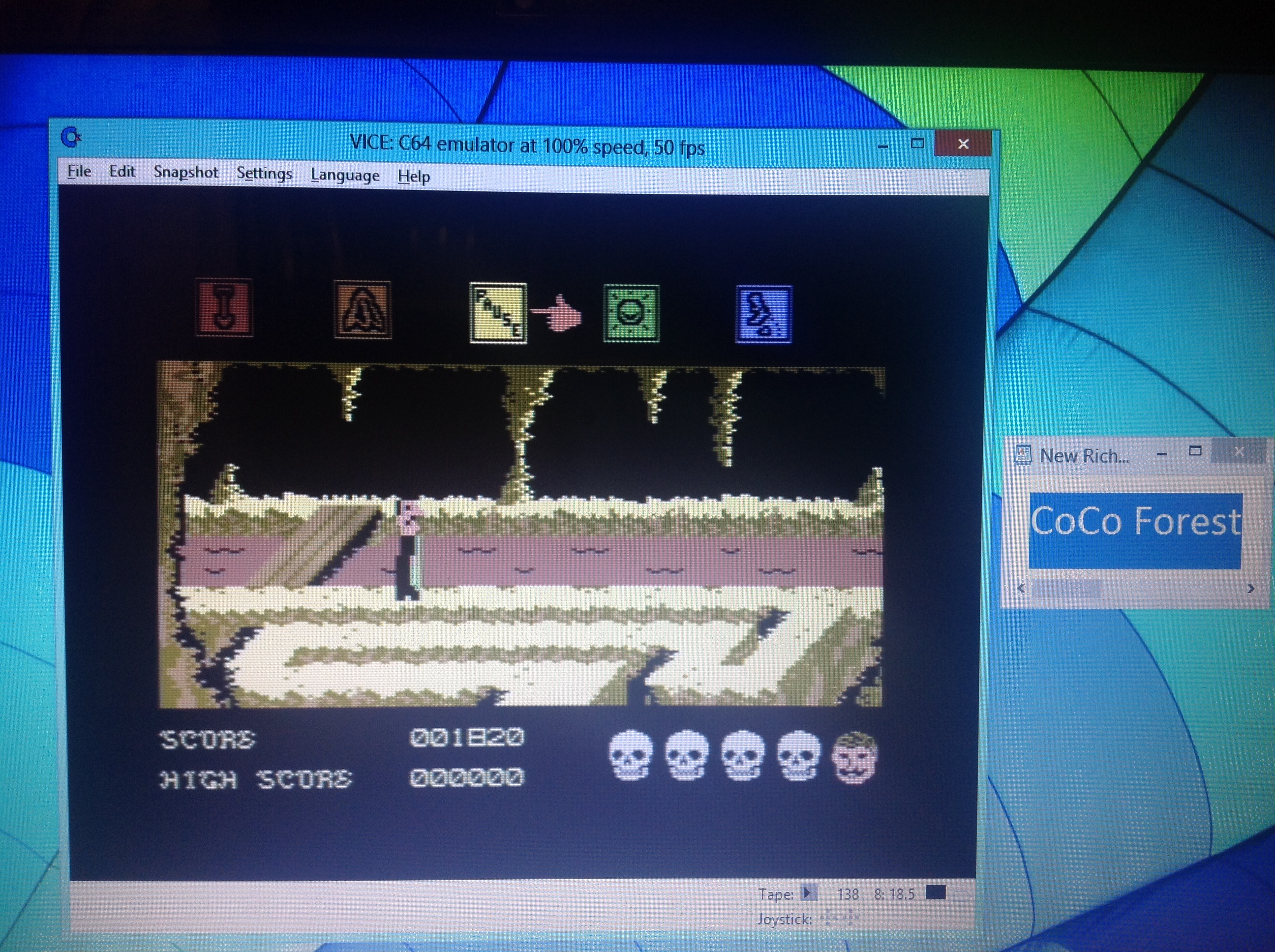 CoCoForest: Dragonskulle [Bonus 1000000 Completed] (Commodore 64 Emulated) 1,820 points on 2018-10-19 13:21:36