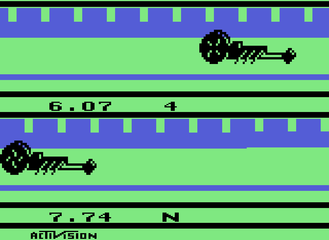 TheTrickster: Dragster (Atari 2600 Emulated Novice/B Mode) 0:00:06.07 points on 2016-06-26 09:17:37