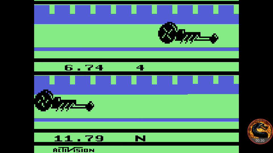 omargeddon: Dragster: Game 2 (Atari 2600 Emulated Expert/A Mode) 0:00:06.74 points on 2018-07-29 15:45:46