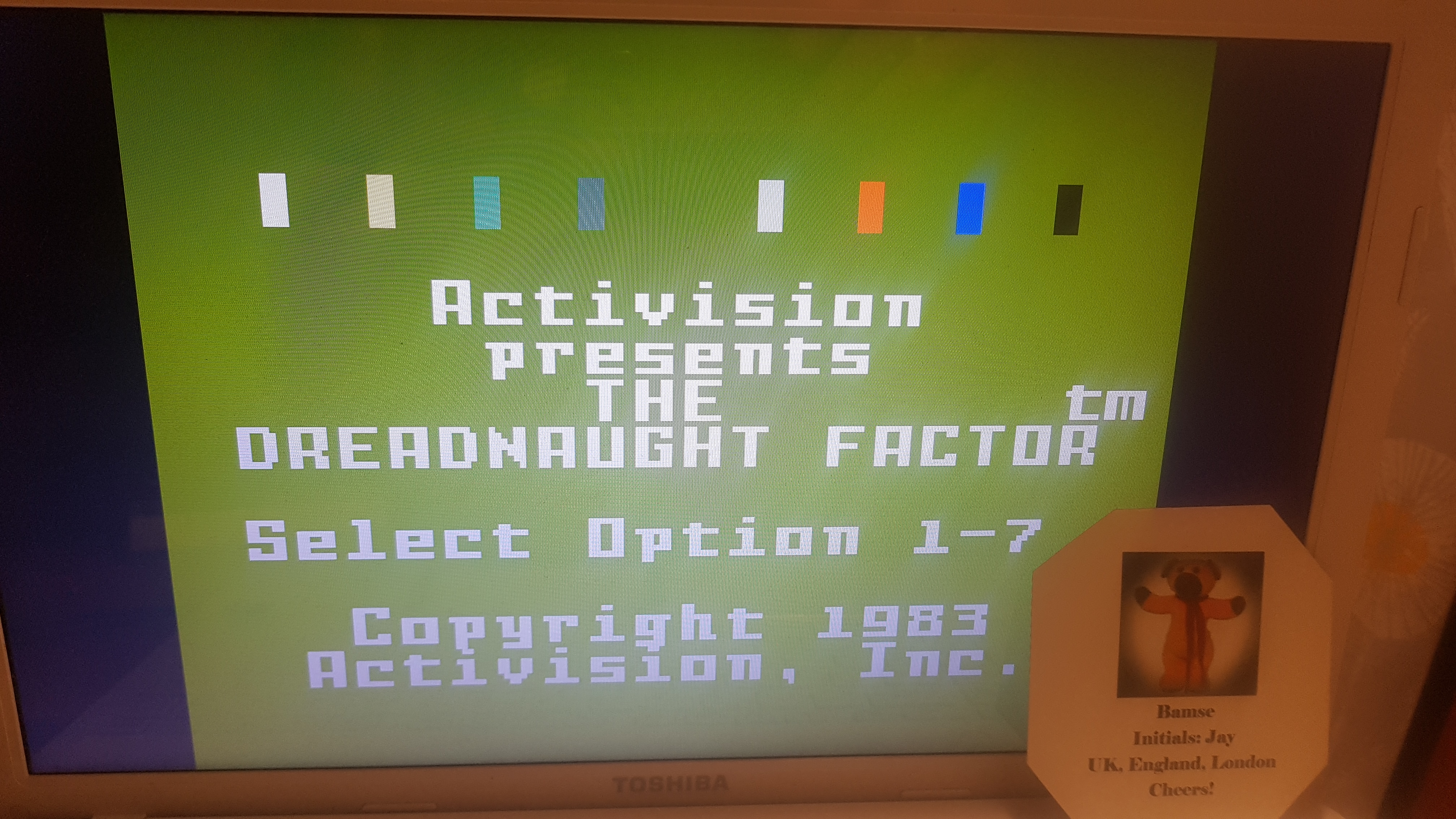 Bamse: Dreadnaught Factor: Level 5 (Intellivision Emulated) 1,458 points on 2019-04-21 17:41:28