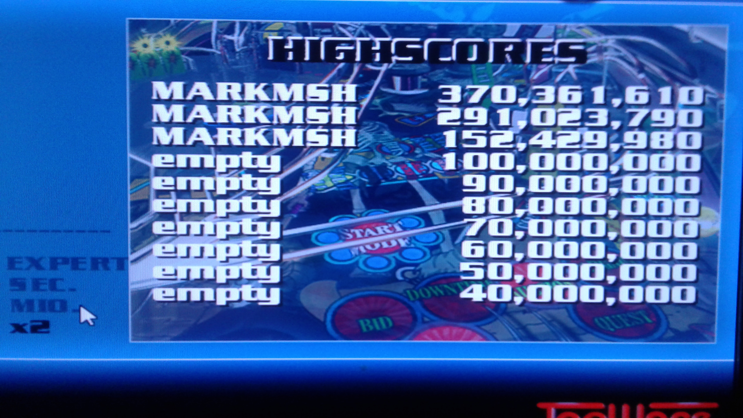 Mark: Dream Pinball 3D: Amber Moon [Hard] (PC Emulated / DOSBox) 370,361,610 points on 2019-05-18 02:38:50