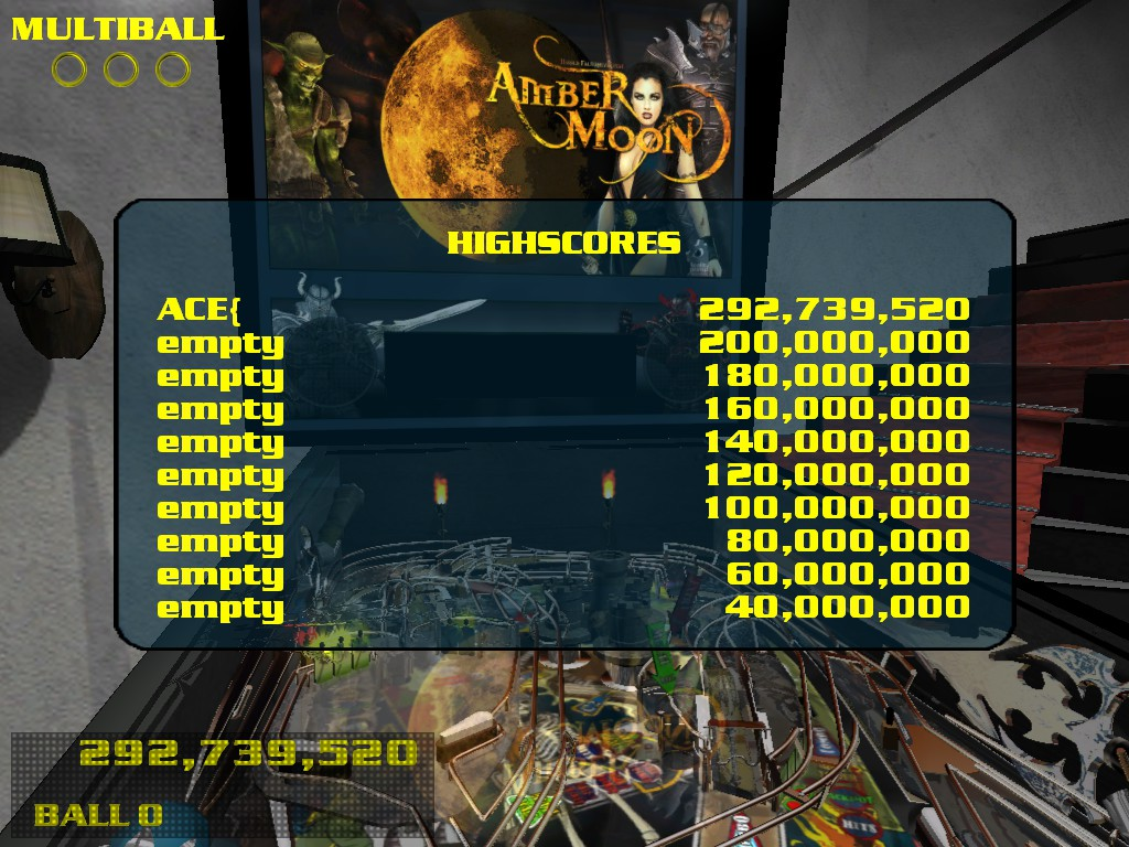 Dumple: Dream Pinball 3D: Amber Moon [Normal] (PC) 292,739,520 points on 2016-05-05 09:30:56