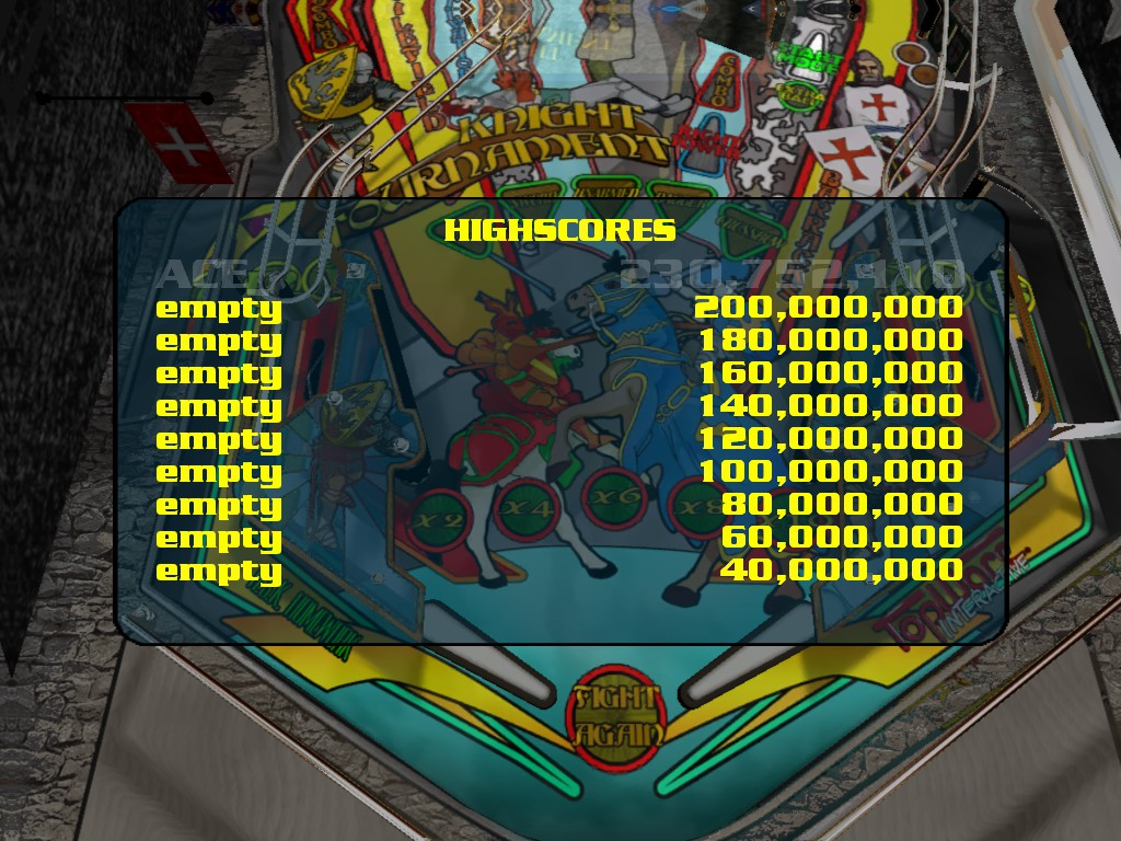 Dumple: Dream Pinball 3D: Knight Tournament [Normal] (PC) 230,752,110 points on 2016-05-05 09:32:56