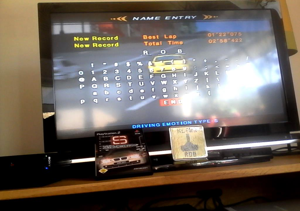 RetroRob: Driving Emotion Type-S [Arcade / West Coast / Division 3] [Best Lap] (Playstation 2) 0:01:22.075 points on 2019-08-21 06:20:28