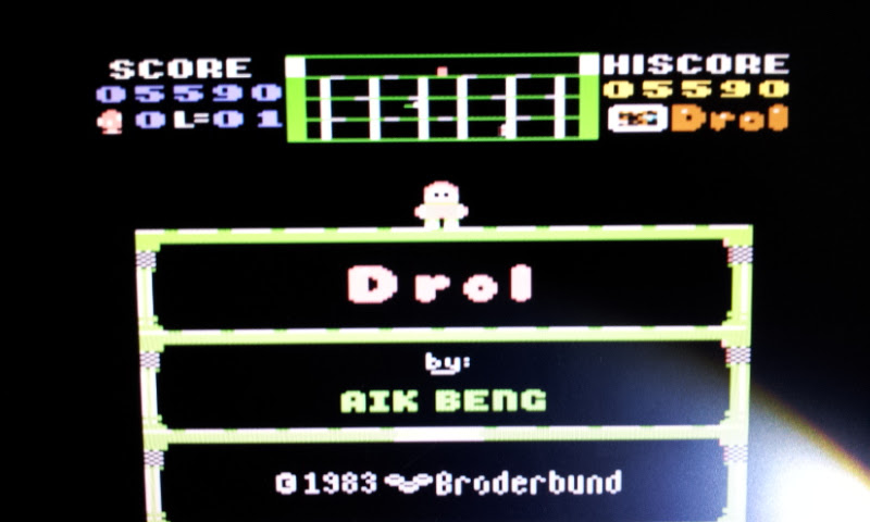 Larquey: Drol (Commodore 64 Emulated) 5,590 points on 2017-08-27 02:28:14