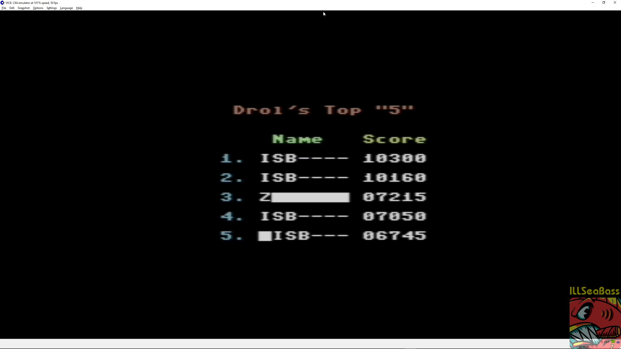 ILLSeaBass: Drol (Commodore 64 Emulated) 10,300 points on 2018-03-01 22:03:08