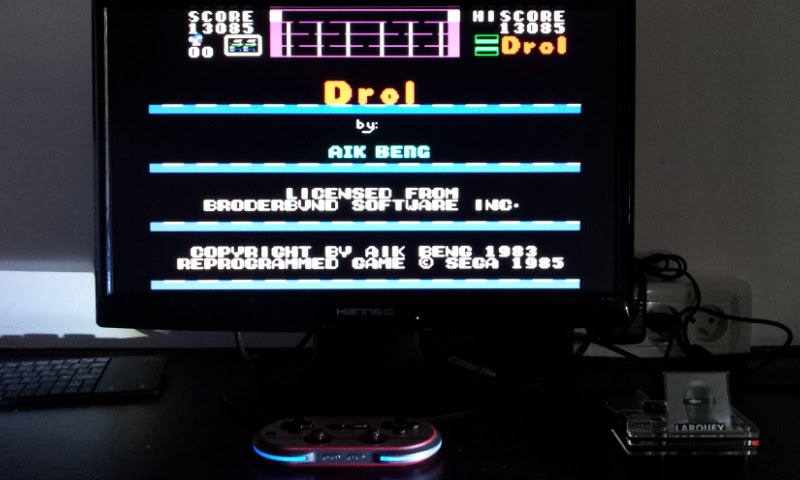 Larquey: Drol (Sega SG-1000 Emulated) 13,085 points on 2017-08-25 13:28:21