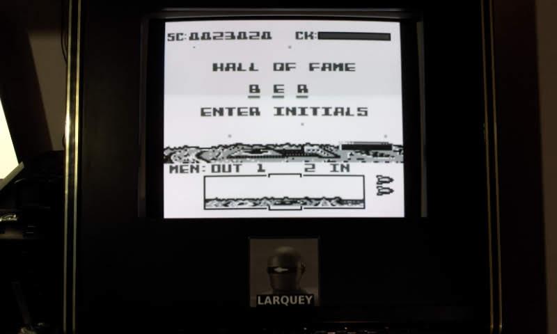 Larquey: Dropzone (Game Boy Emulated) 23,020 points on 2018-09-03 12:20:38