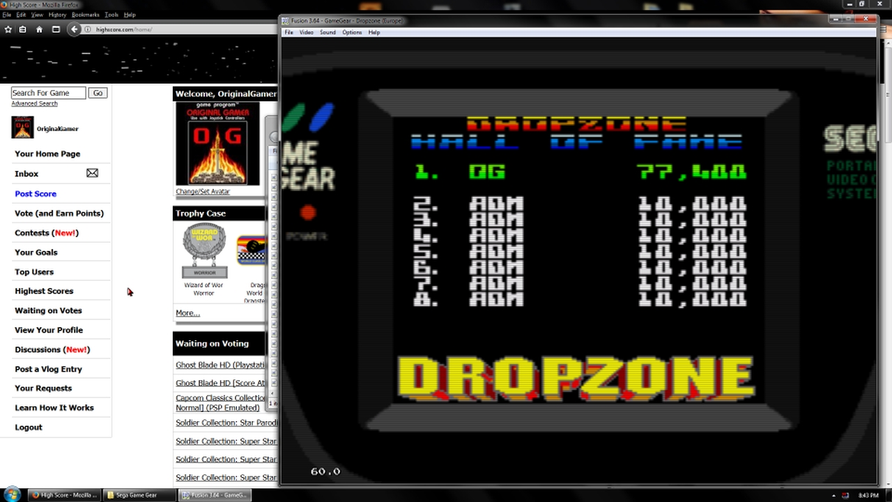 OriginalGamer: Dropzone (Sega Game Gear Emulated) 77,400 points on 2018-03-15 17:31:44