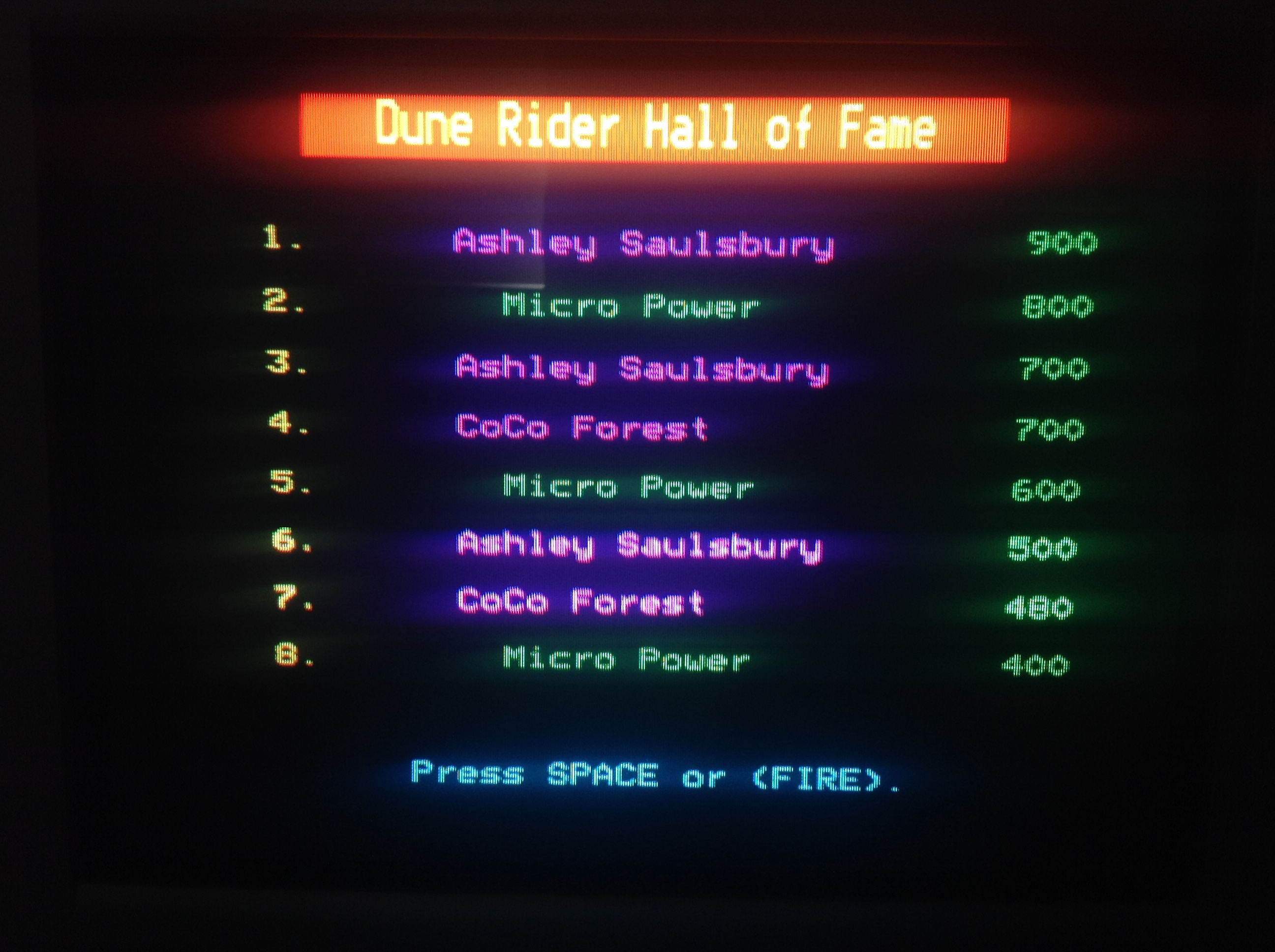 CoCoForest: Dune Rider (BBC Micro) 700 points on 2018-07-01 12:30:54