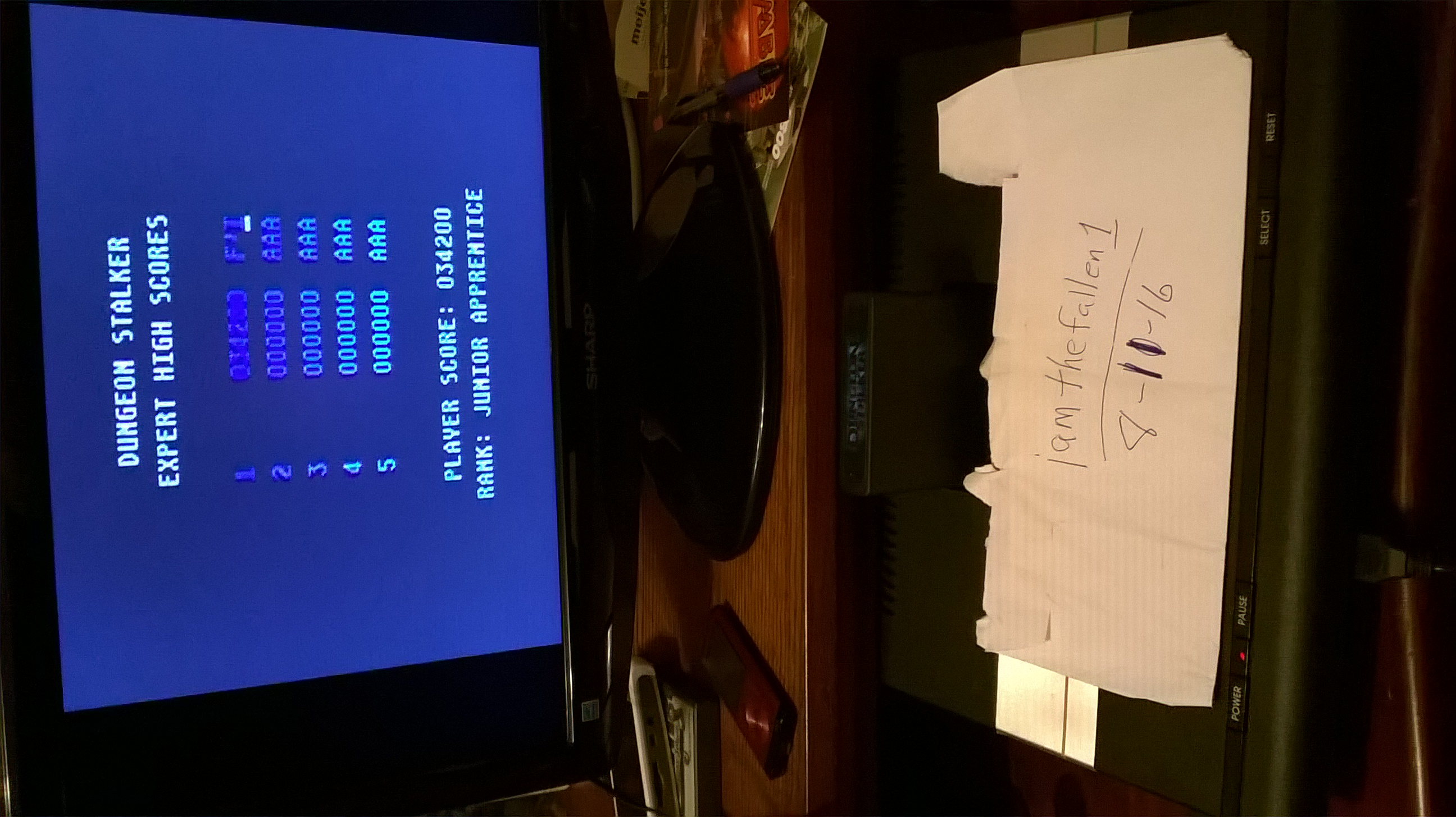 iamthefallen1: Dungeon Stalker [Expert] (Atari 7800) 34,200 points on 2016-08-11 22:21:32