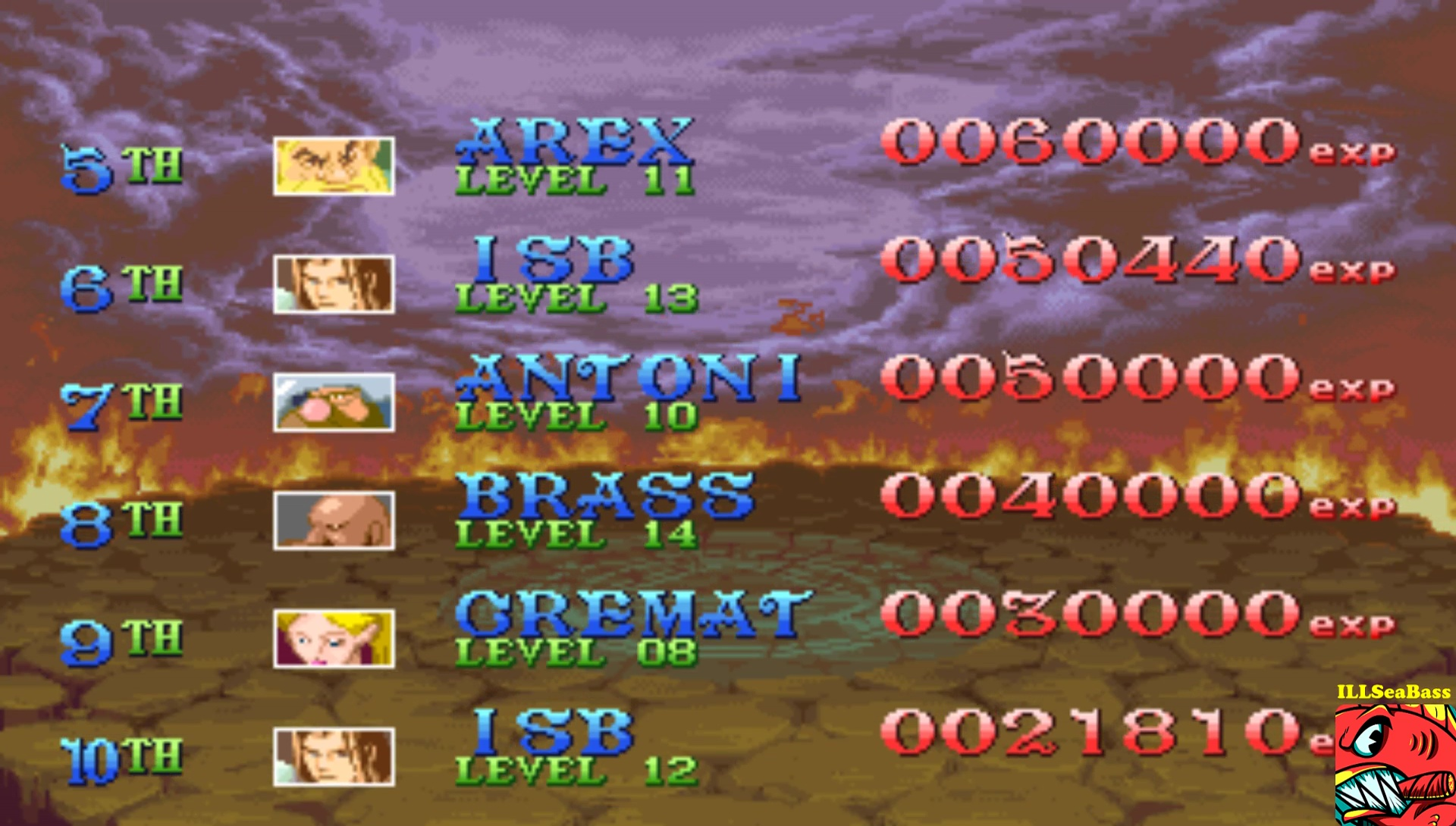 ILLSeaBass: Dungeons & Dragons: Shadows over Mystara [ddsom] (Arcade Emulated / M.A.M.E.) 50,440 points on 2017-02-04 18:42:53