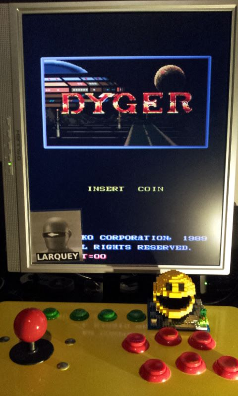Larquey: Dyger [dyger] (Arcade Emulated / M.A.M.E.) 184,700 points on 2017-02-27 15:10:28