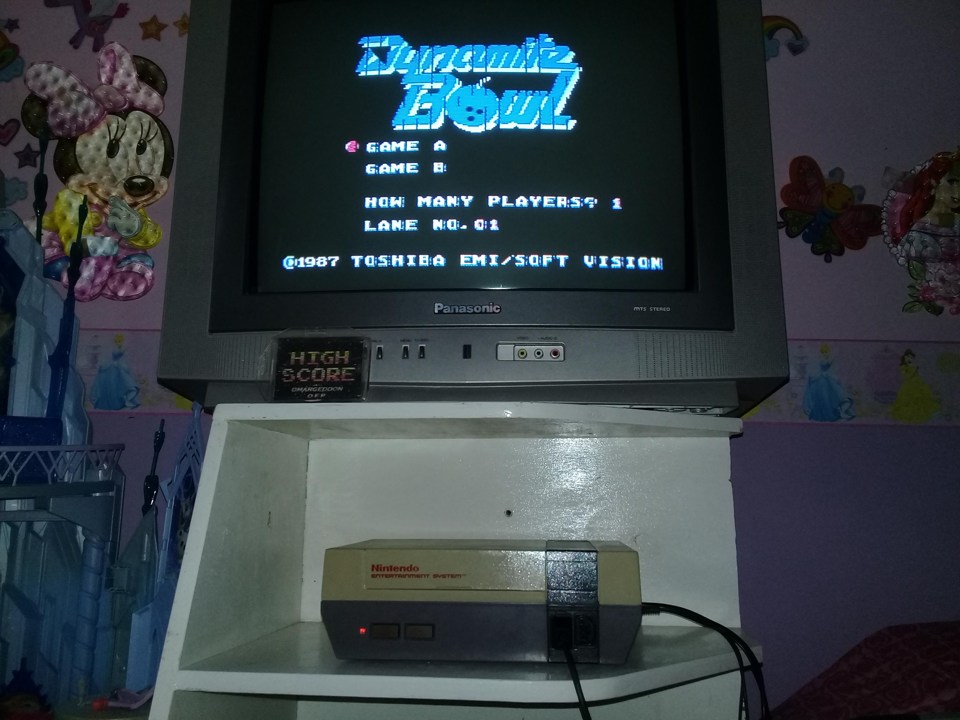 omargeddon: Dynamite Bowl (NES/Famicom) 131 points on 2019-05-01 13:36:15
