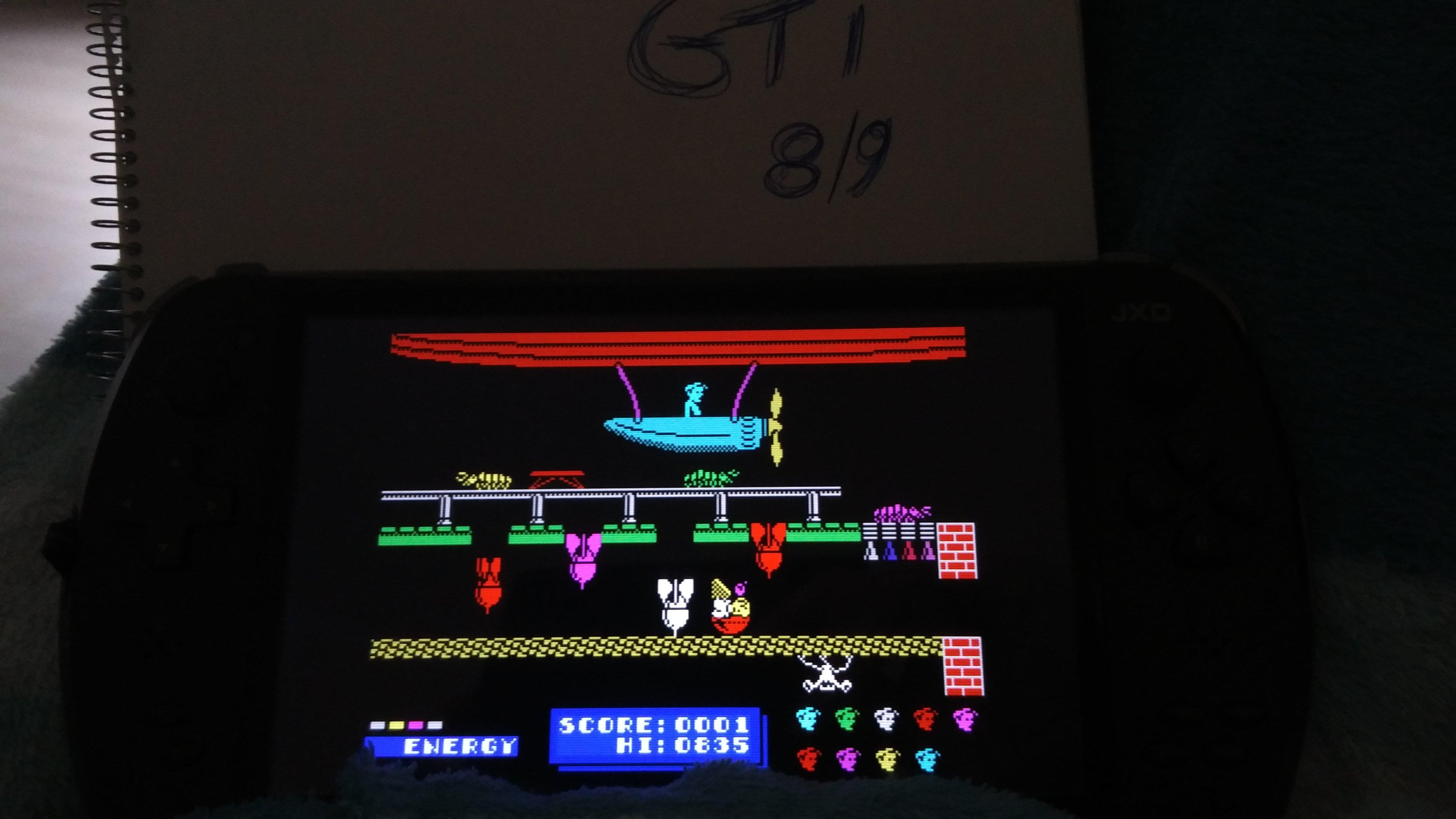 GTibel: Dynamite Dan (ZX Spectrum Emulated) 835 points on 2017-09-09 00:30:29