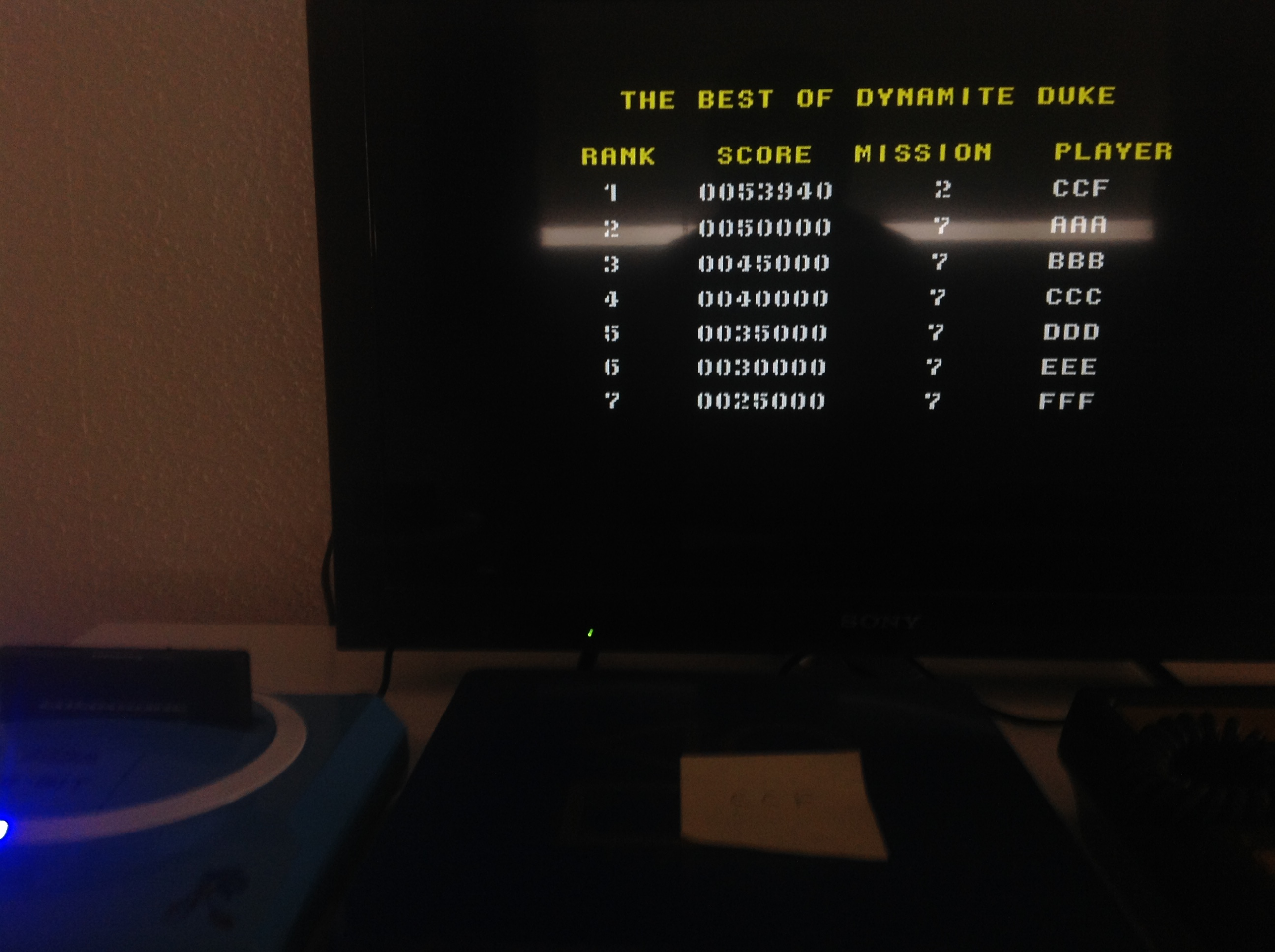 CoCoForest: Dynamite Duke (Sega Genesis / MegaDrive) 53,940 points on 2018-08-07 03:16:38