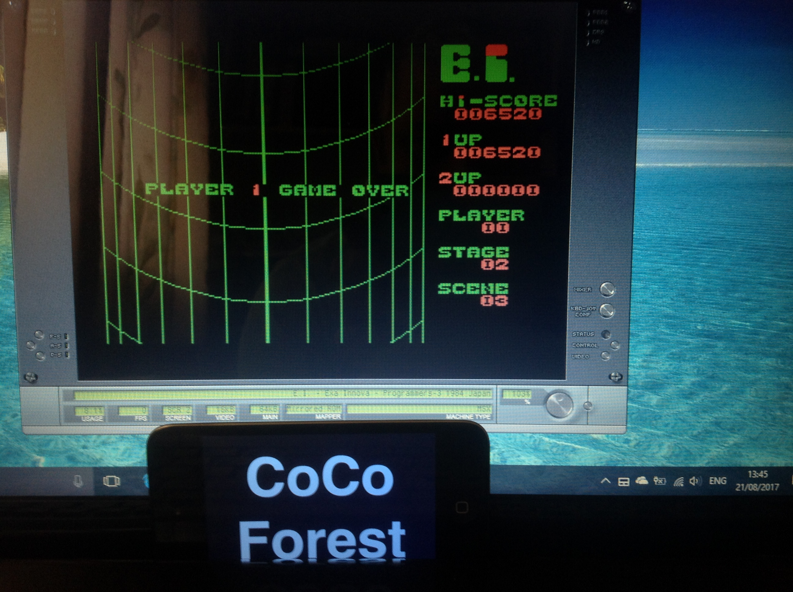 CoCoForest: E.I. Exa Innova (MSX Emulated) 6,520 points on 2017-08-21 07:46:36