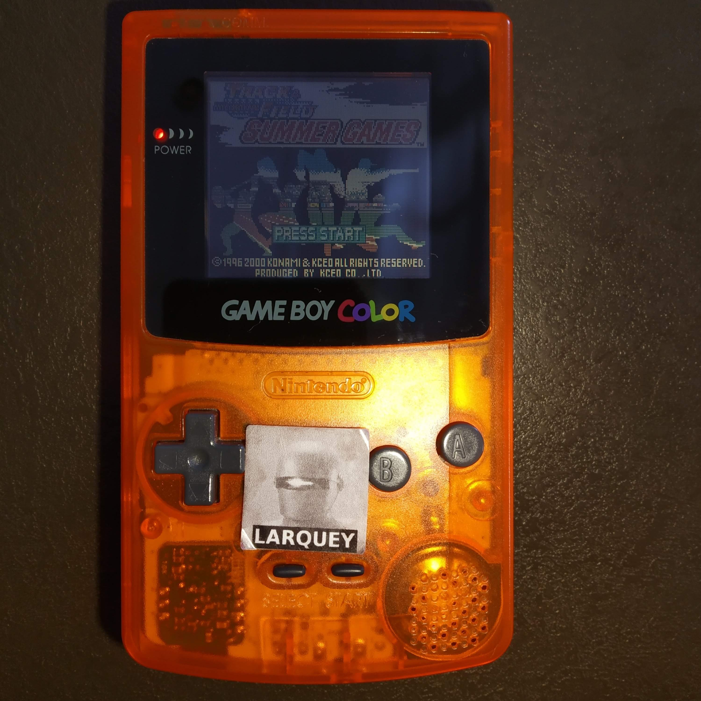 Larquey: ESPN International Track & Field: 100m Dash (Game Boy Color) 0:00:10.42 points on 2020-07-29 06:18:01
