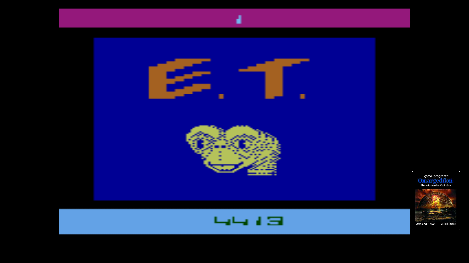 omargeddon: E.T. The Extra-Terrestrial: Game 1BA (Atari 2600 Emulated) 4,413 points on 2017-10-27 18:05:27