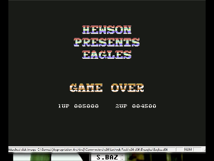S.BAZ: Eagles (Commodore 64 Emulated) 5,000 points on 2016-06-10 02:24:47