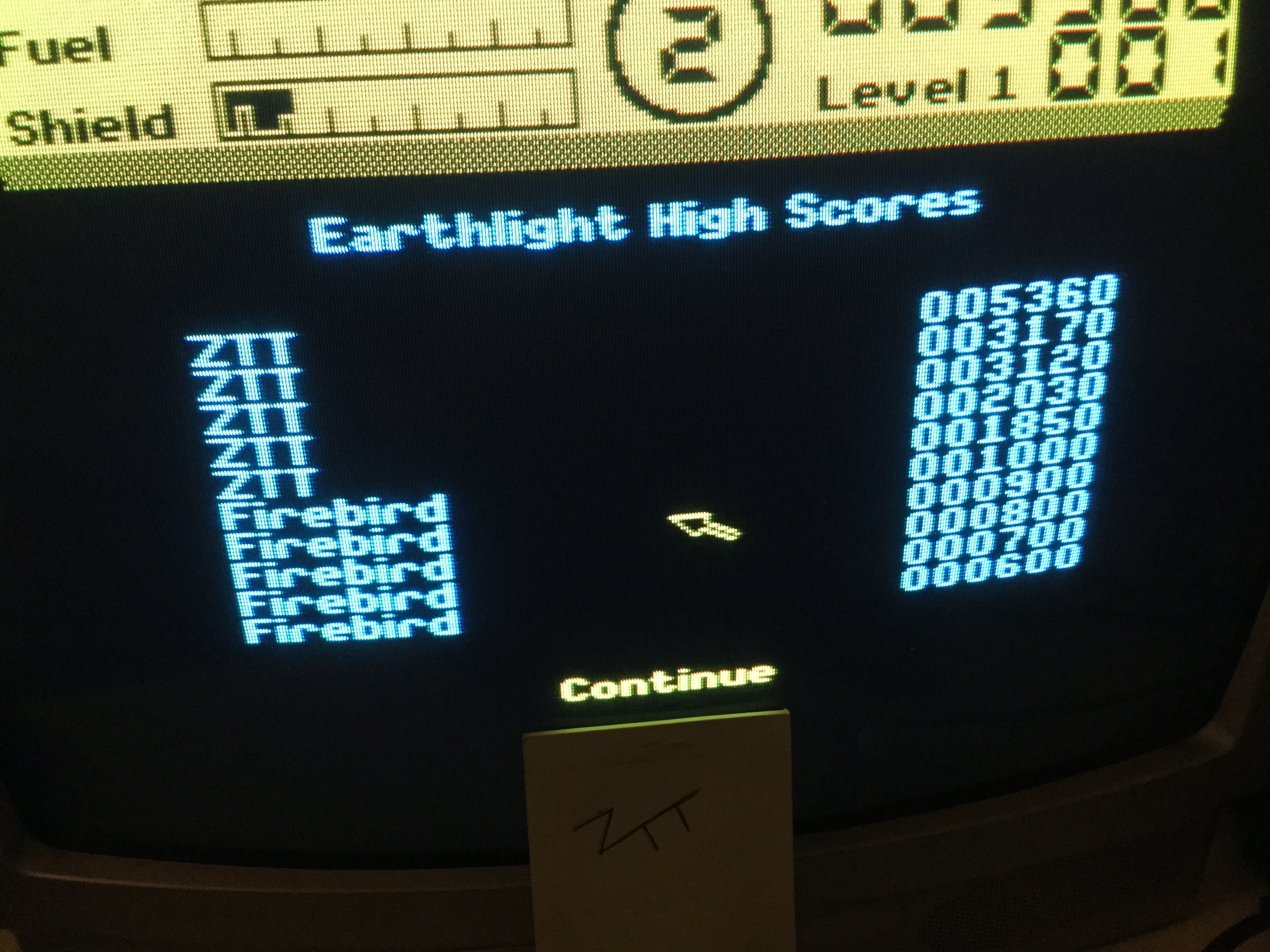 Frankie: Earthlight (ZX Spectrum) 5,360 points on 2019-09-27 07:43:54